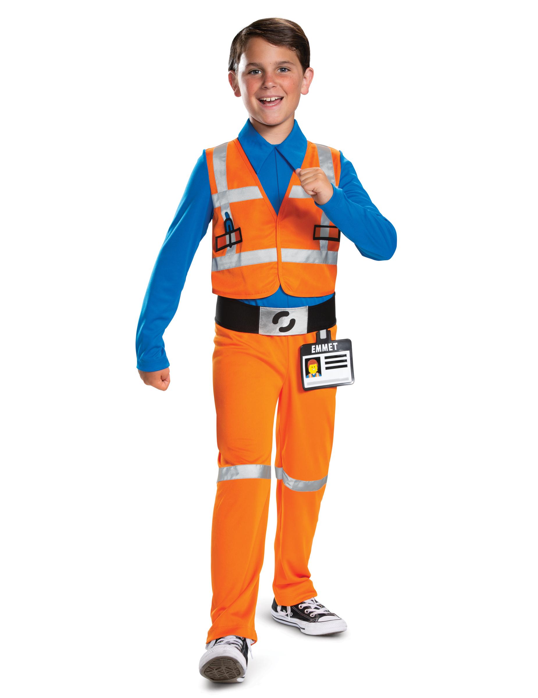 Lego-Figur Emmet Kostüm für Kinder Lizenz-Lego 2 bunt - 140/146 (10-12 Jahre) 286630