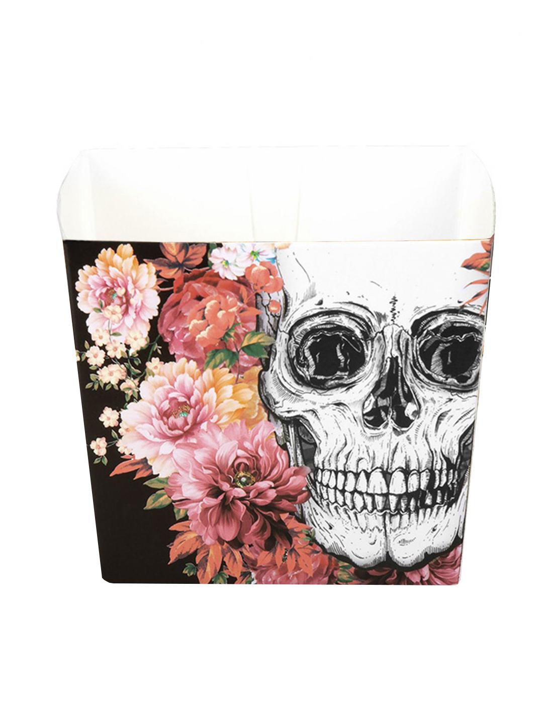#Skelett-Behälter Tischdekoration für Halloween 6 Stück bunt 40cl#