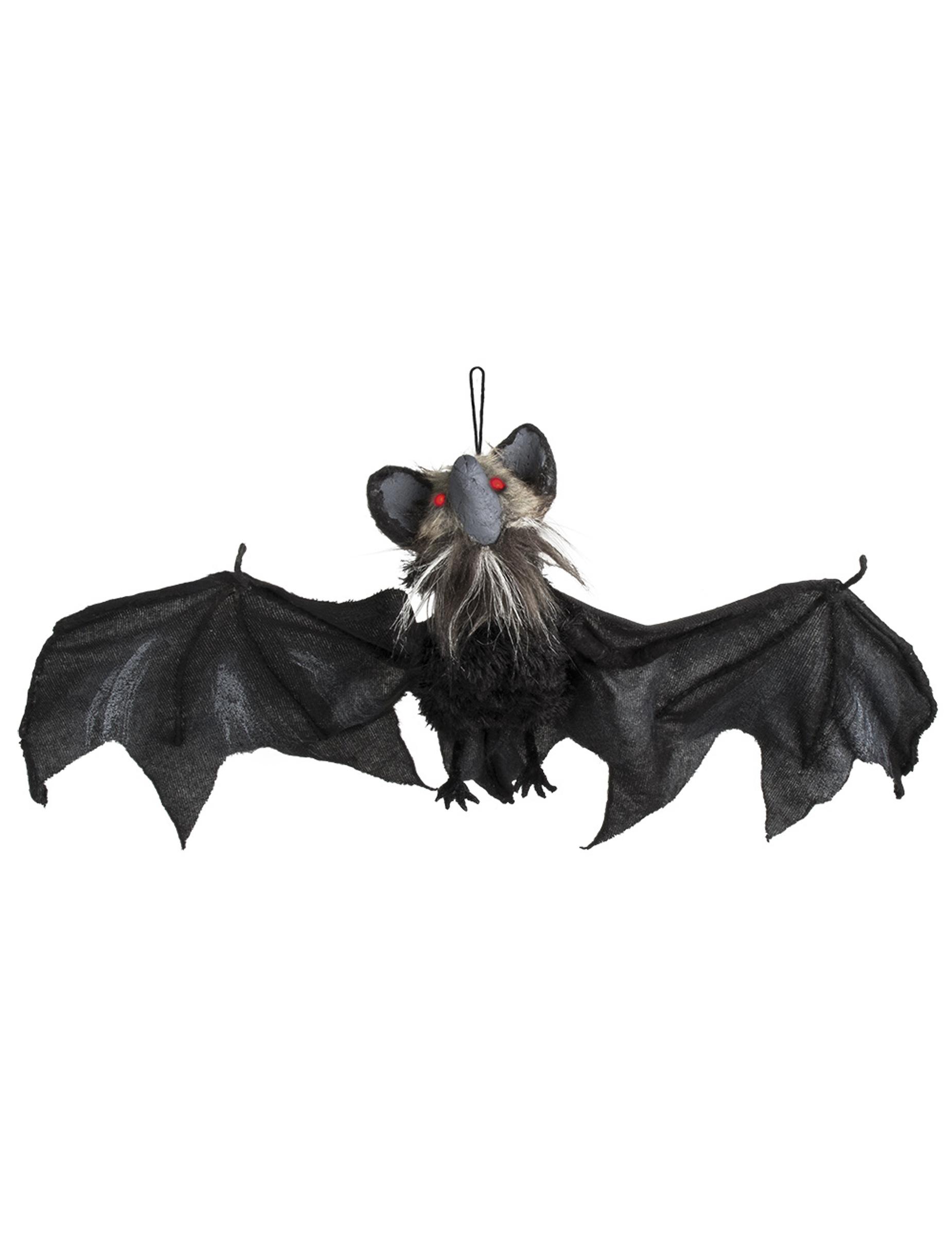 *Schaurige Fledermaus animiert Halloween-Dekoration schwarz 45x80cm*