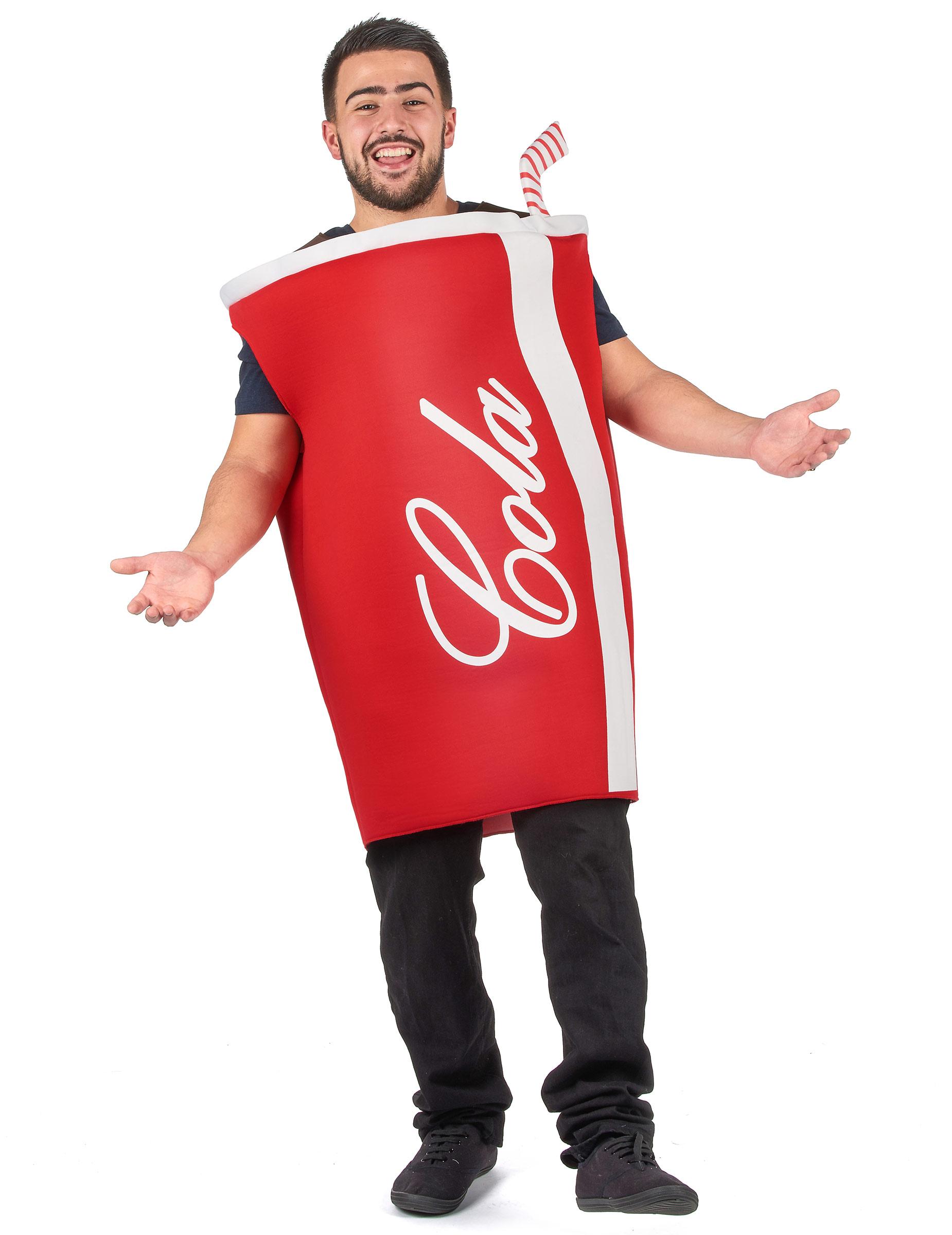 Witziges Cola Kostüm für Erwachsene rot - M 287079