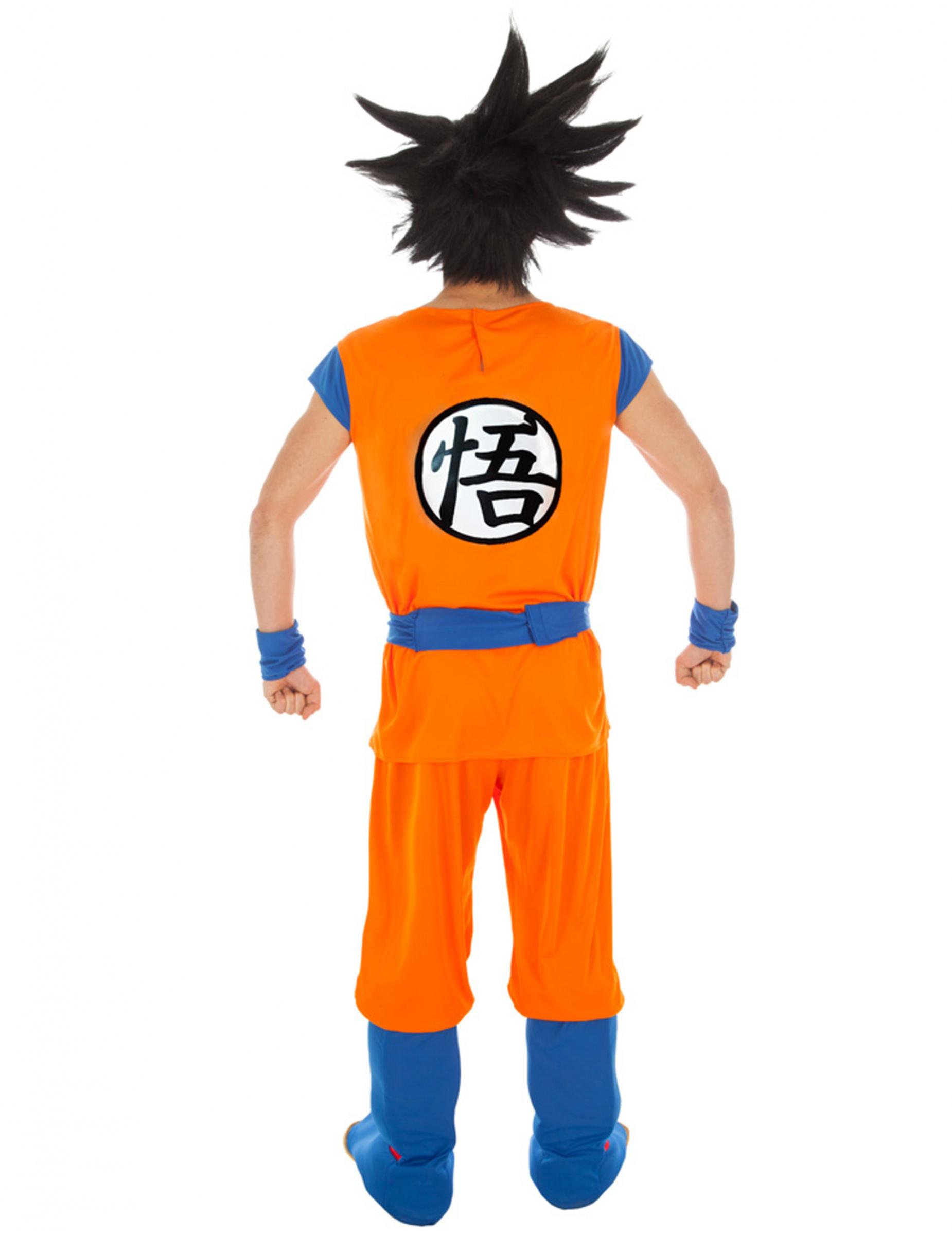Son Goku Herrenkostüm Lizenz Von Dragonball Z Orange