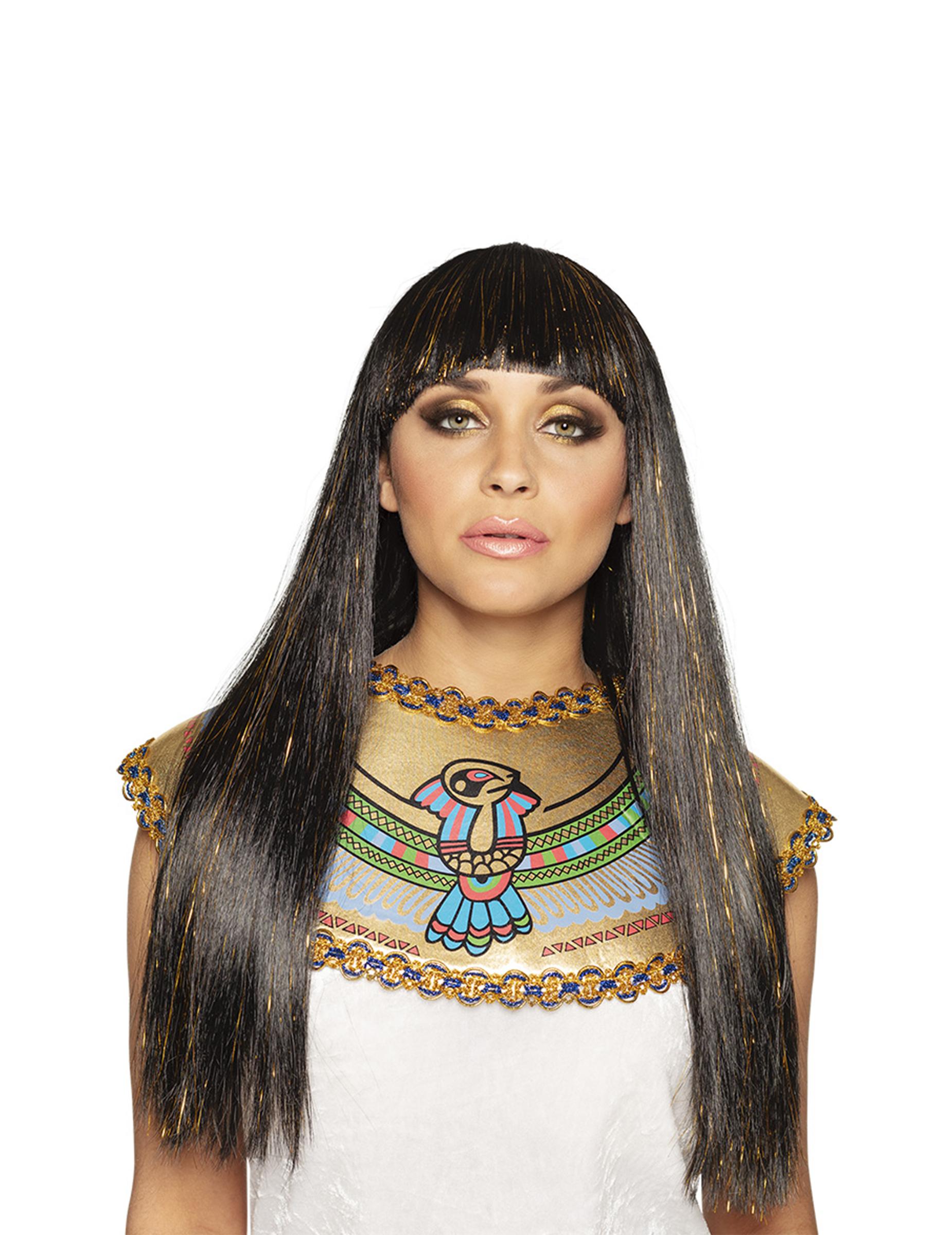 Cleopatra-Perücke für Damen Pharaonin braun 287485