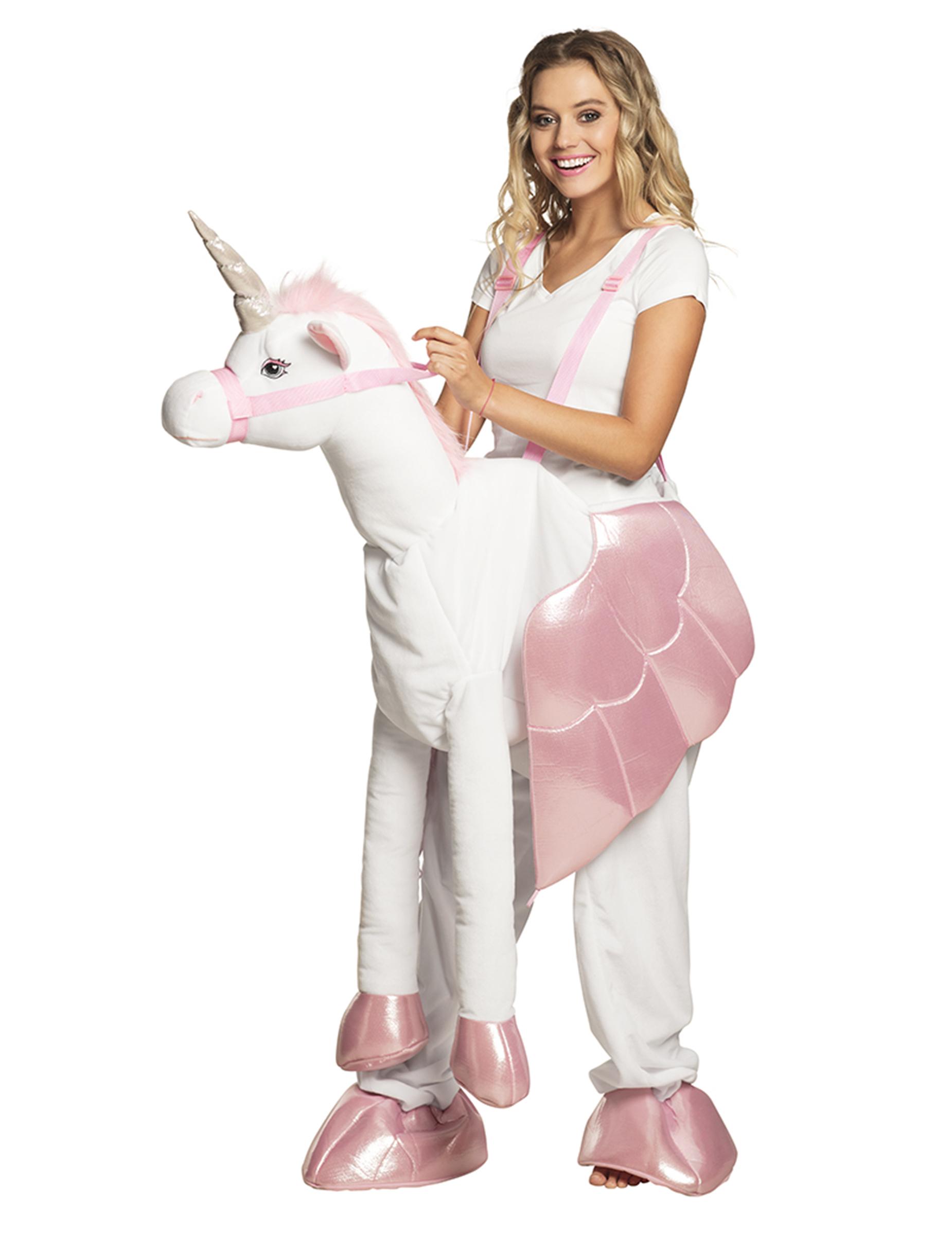einhorn huckepack kost m f r erwachsene weiss rosa kost me f r erwachsene und g nstige. Black Bedroom Furniture Sets. Home Design Ideas