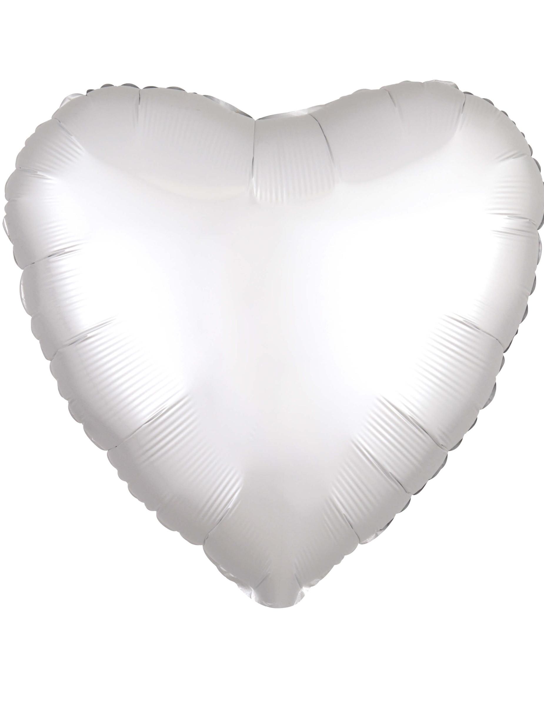 #Folienballon Herz 43cm weiß Partyzubehör#