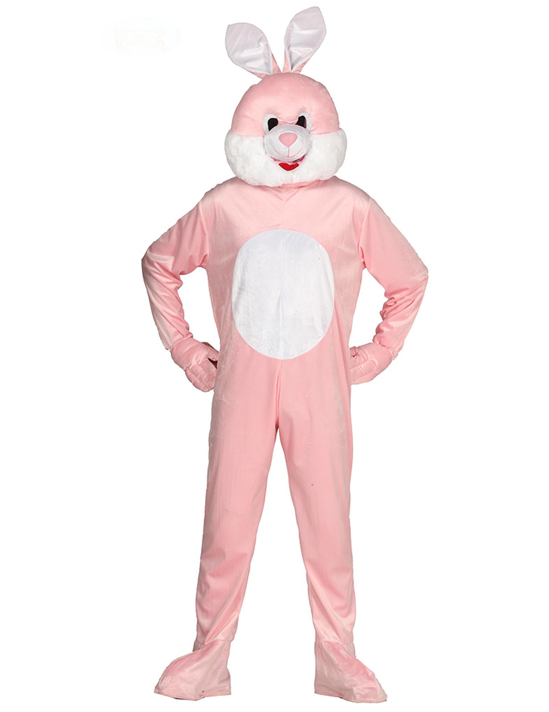 neueste kaufen attraktive Mode Verarbeitung finden Hasen Kostüm für Erwachsene Maskottchen-Verkleidung rosa-weiss