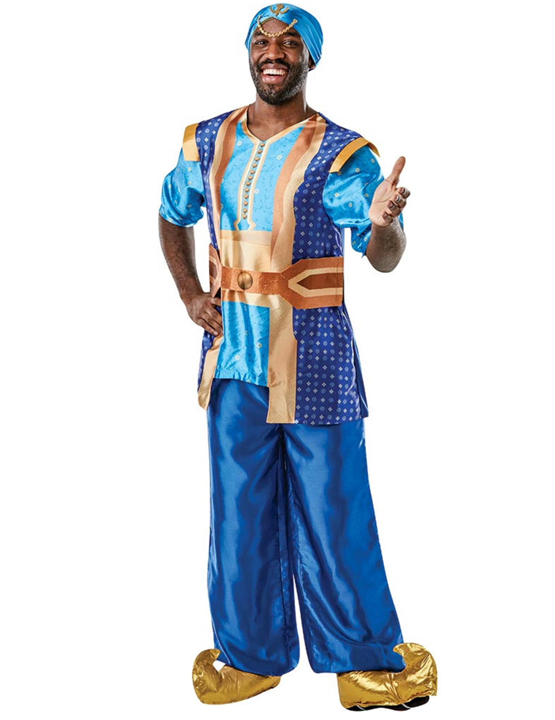 Dschinni Kostüm für Herren Aladdin blau - M / L 288527