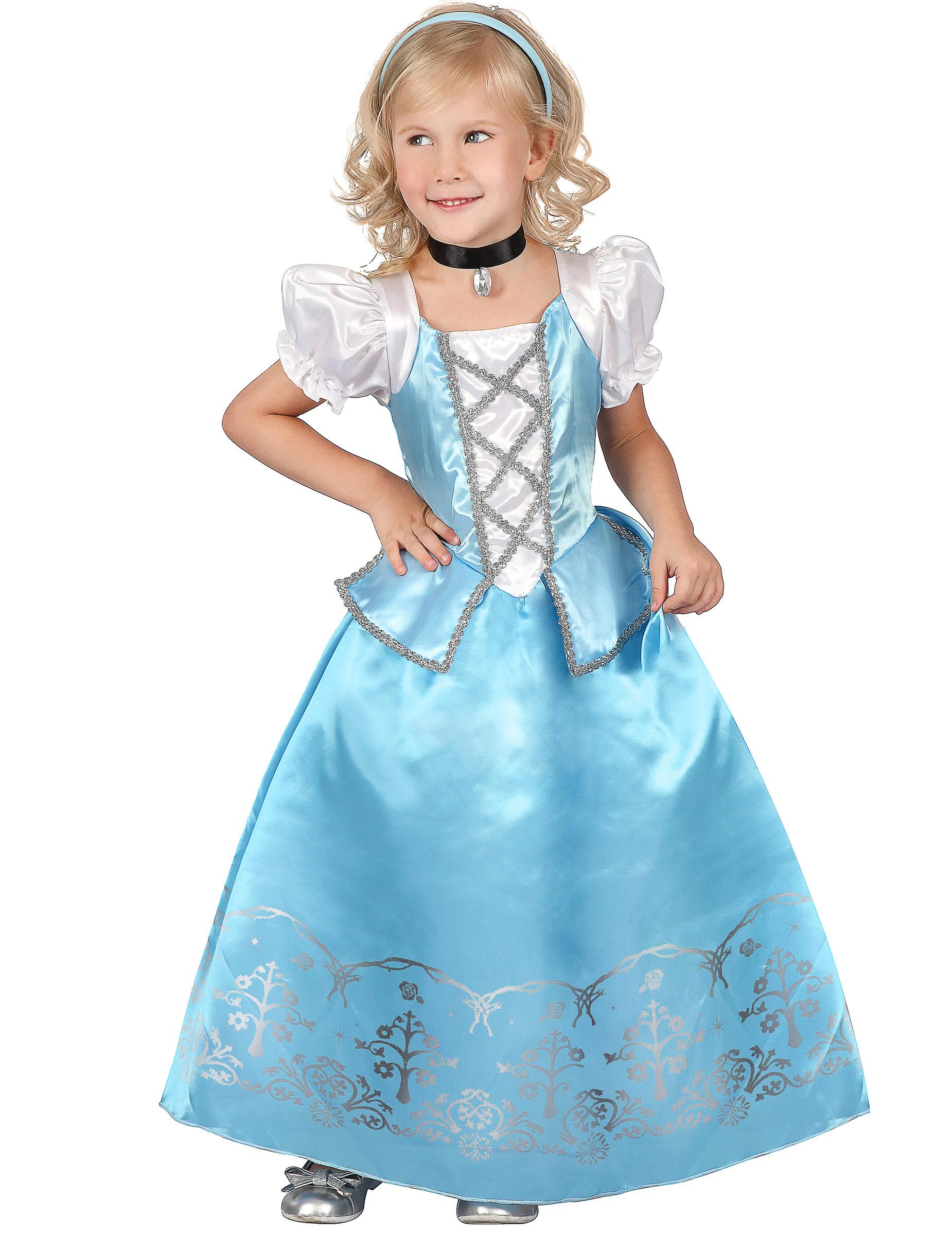 Prinzessinnen-Kleid für Mädchen blau-weiss: Kostüme für Bilder