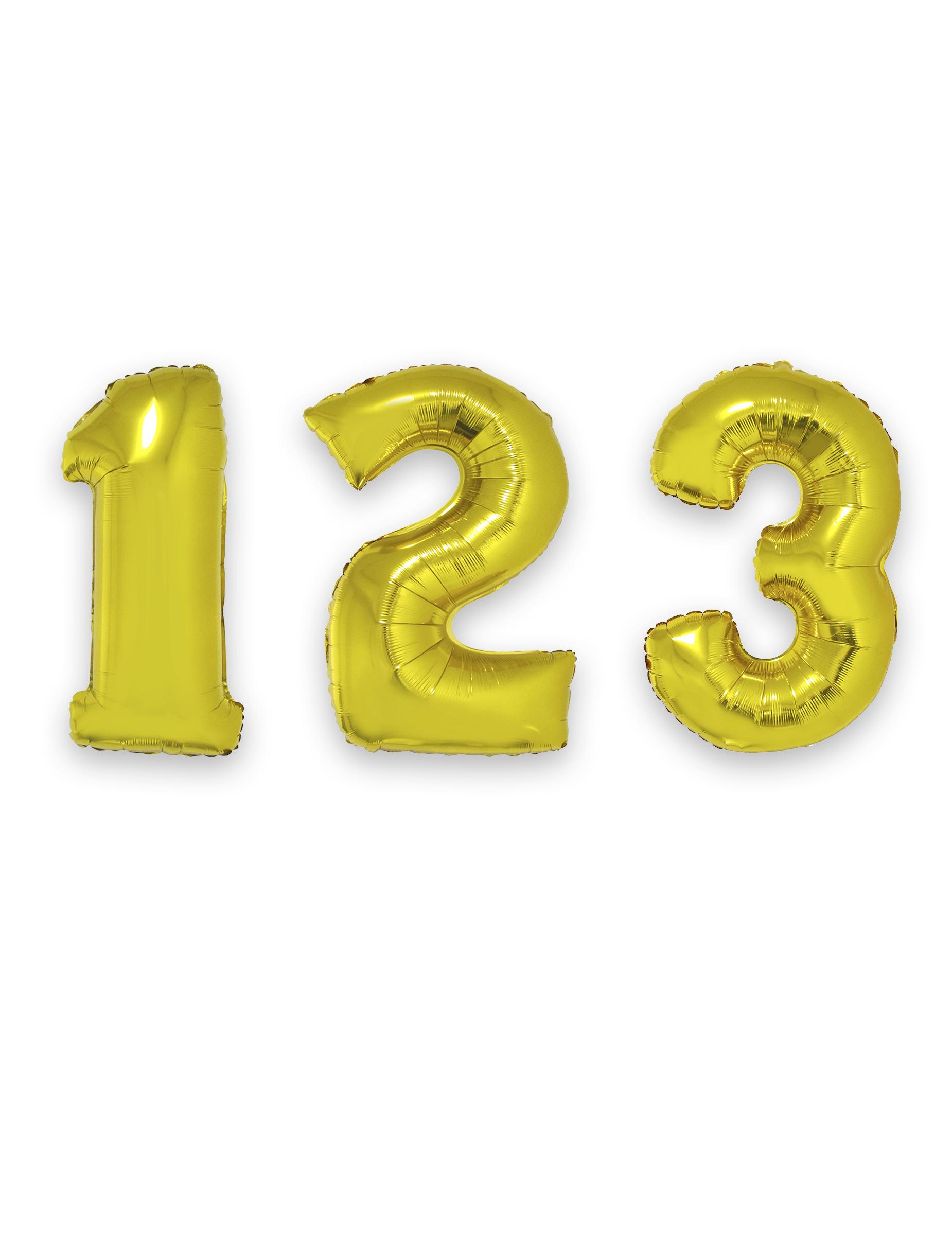 #Zahlen-Folienballon Ziffern Raumdekoration gold 1m#