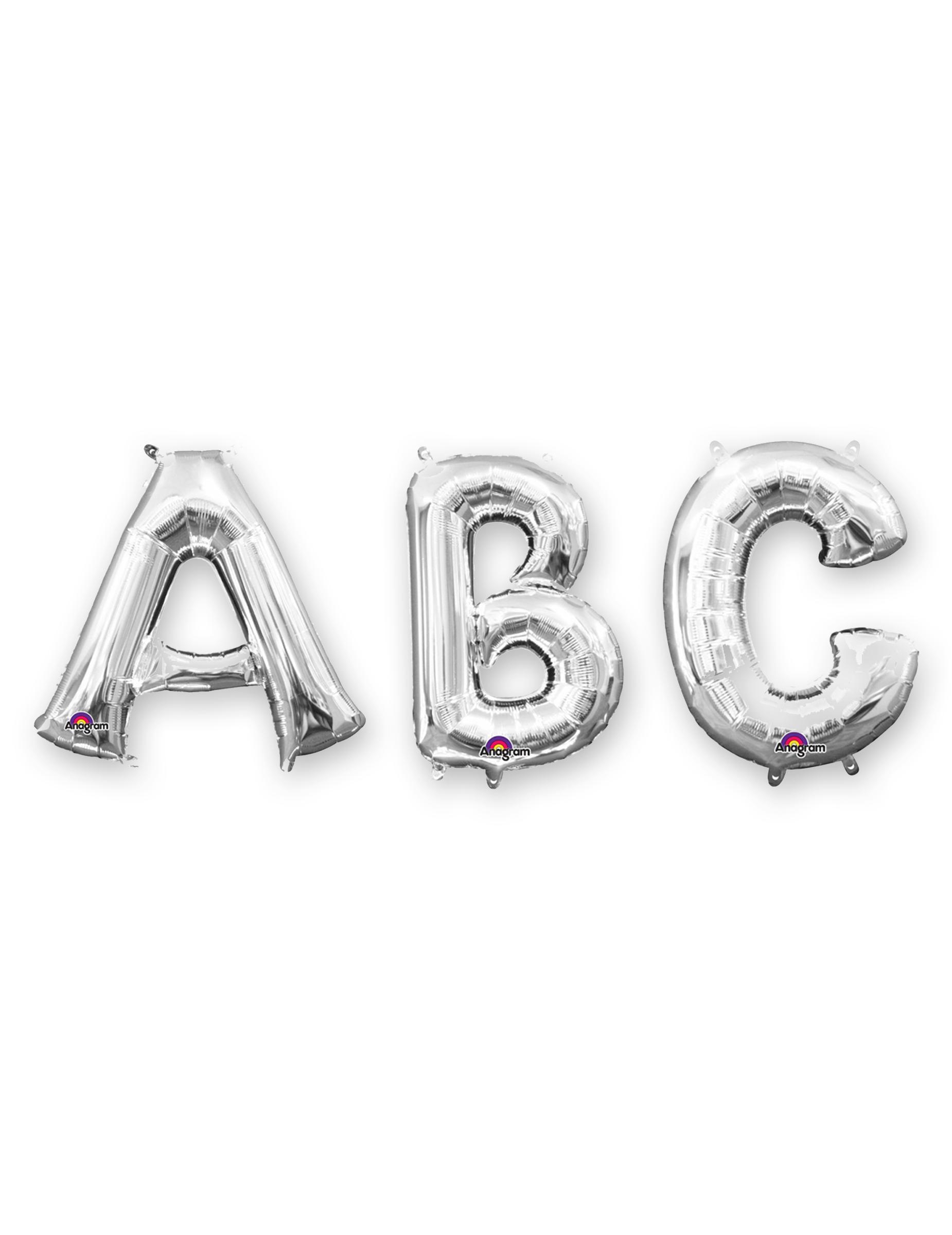 #Aluminium-Ballon Buchstaben Partydekoration silber 33 cm#
