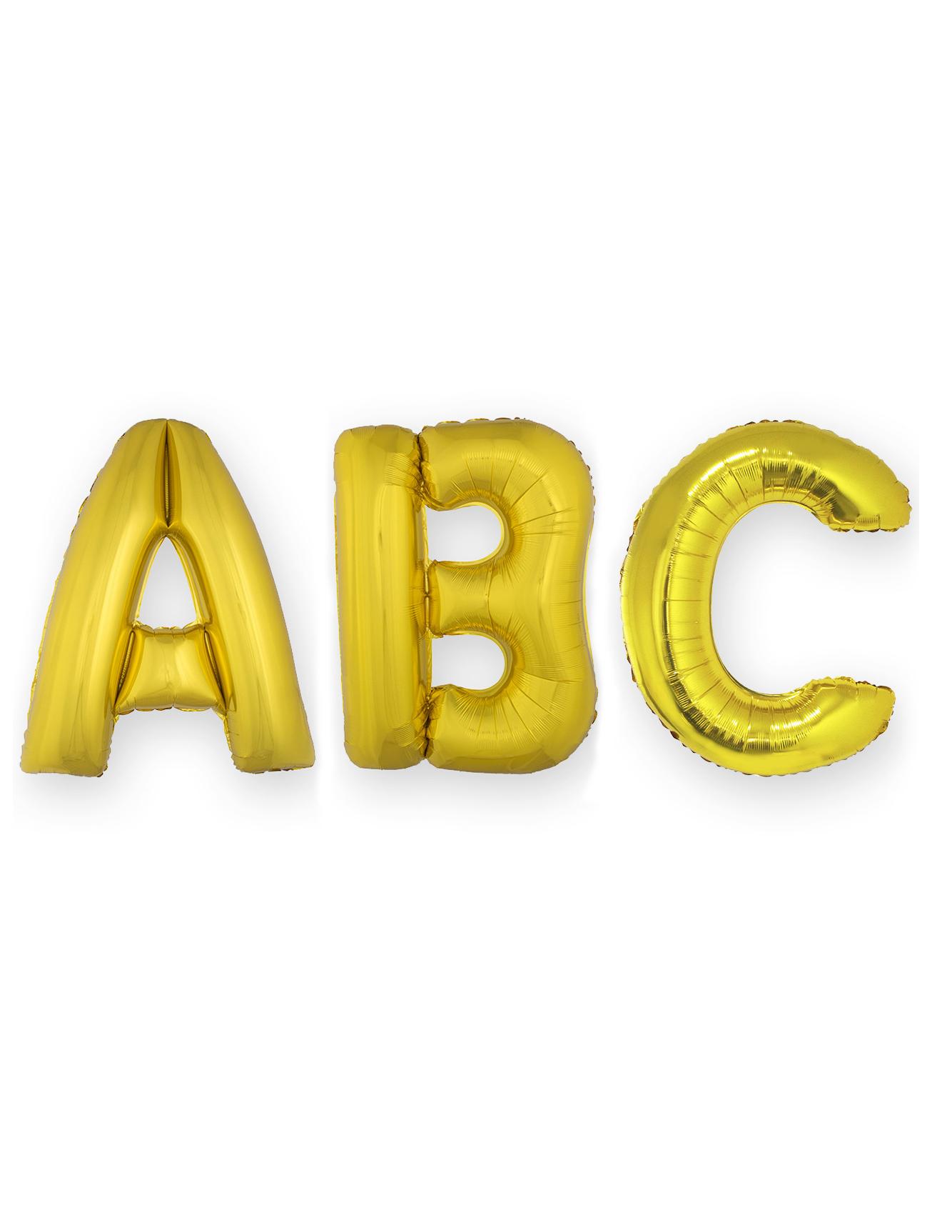 *Aluminium-Ballon mit Zahlen Raumdekoration gold 1m*