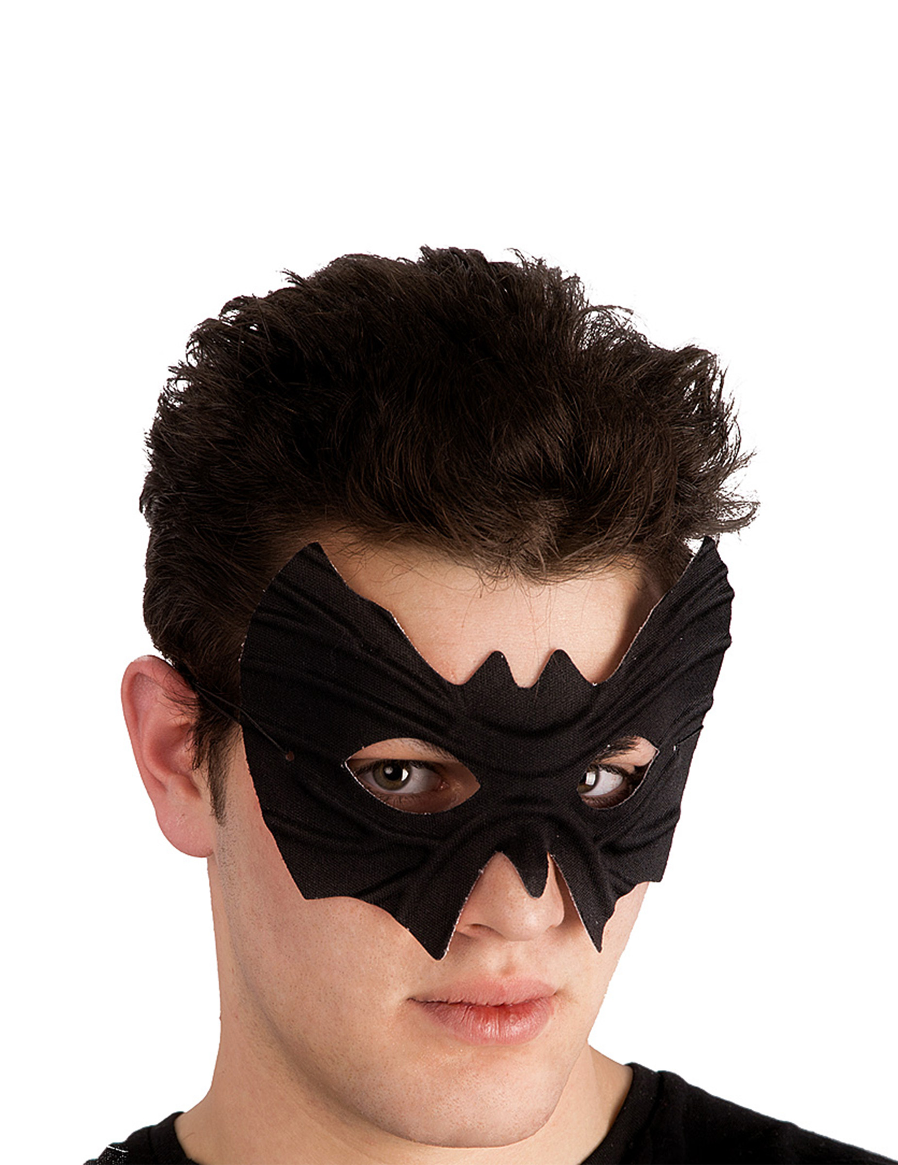#Augenmaske Fledermaus Superhelden-Maske mit Gummiband schwarz#