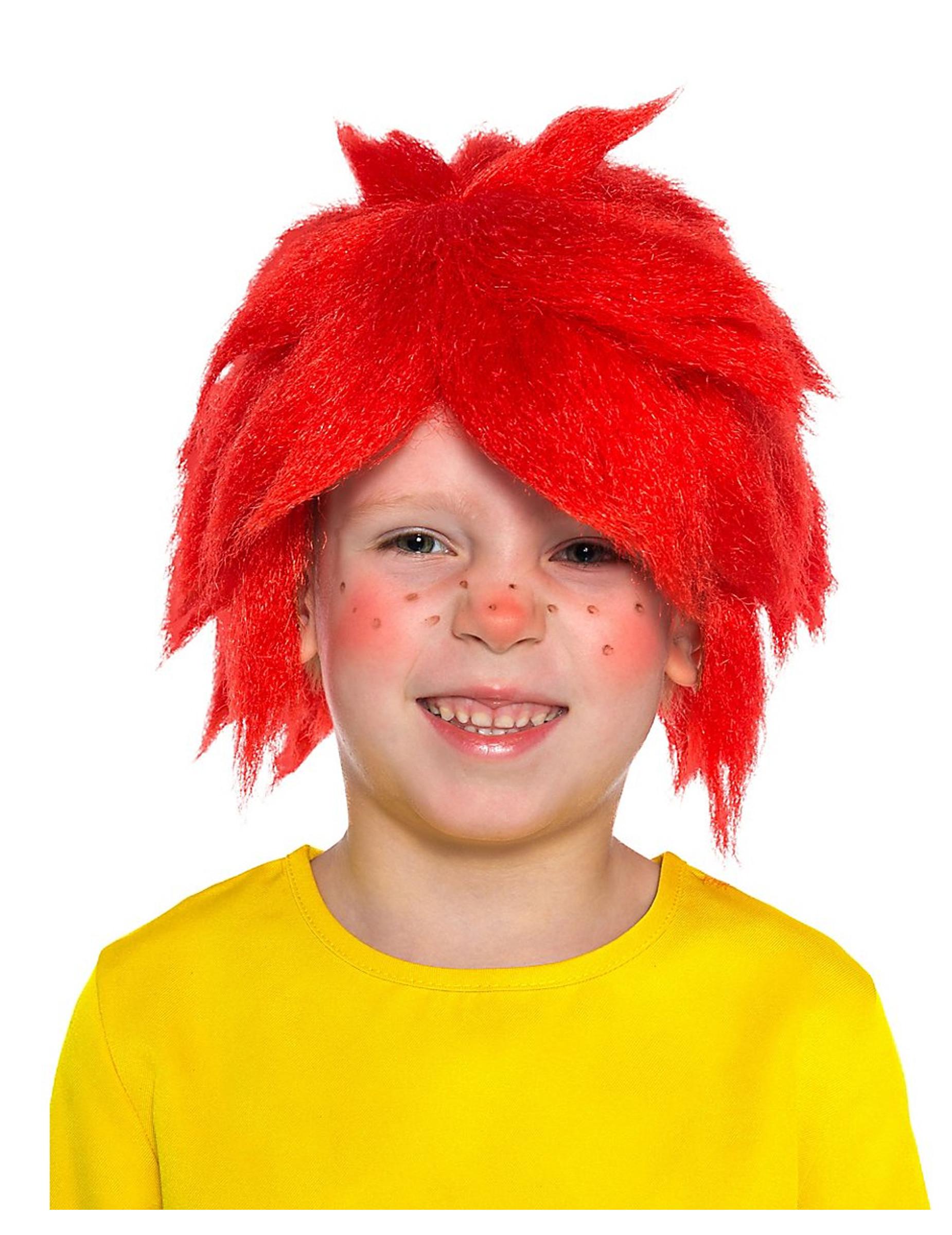 Pumuckl Perücke für Kinder rot 290481