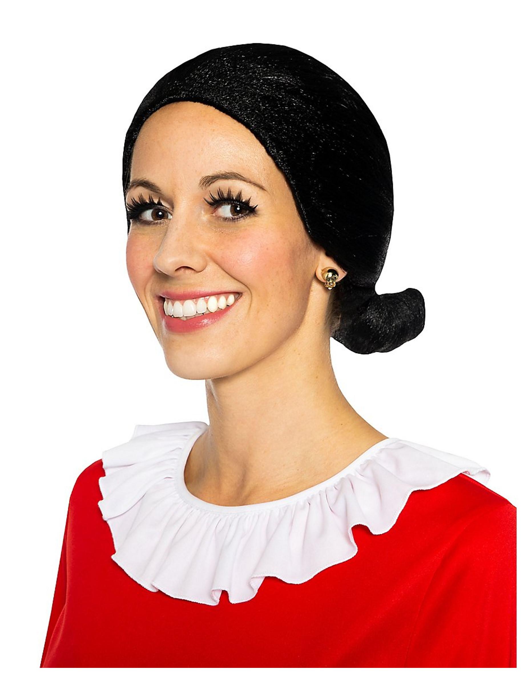 Olivia™ Perücke für Damen schwarz Popeye™: Perücken,und ...  Olivia™ Perü...