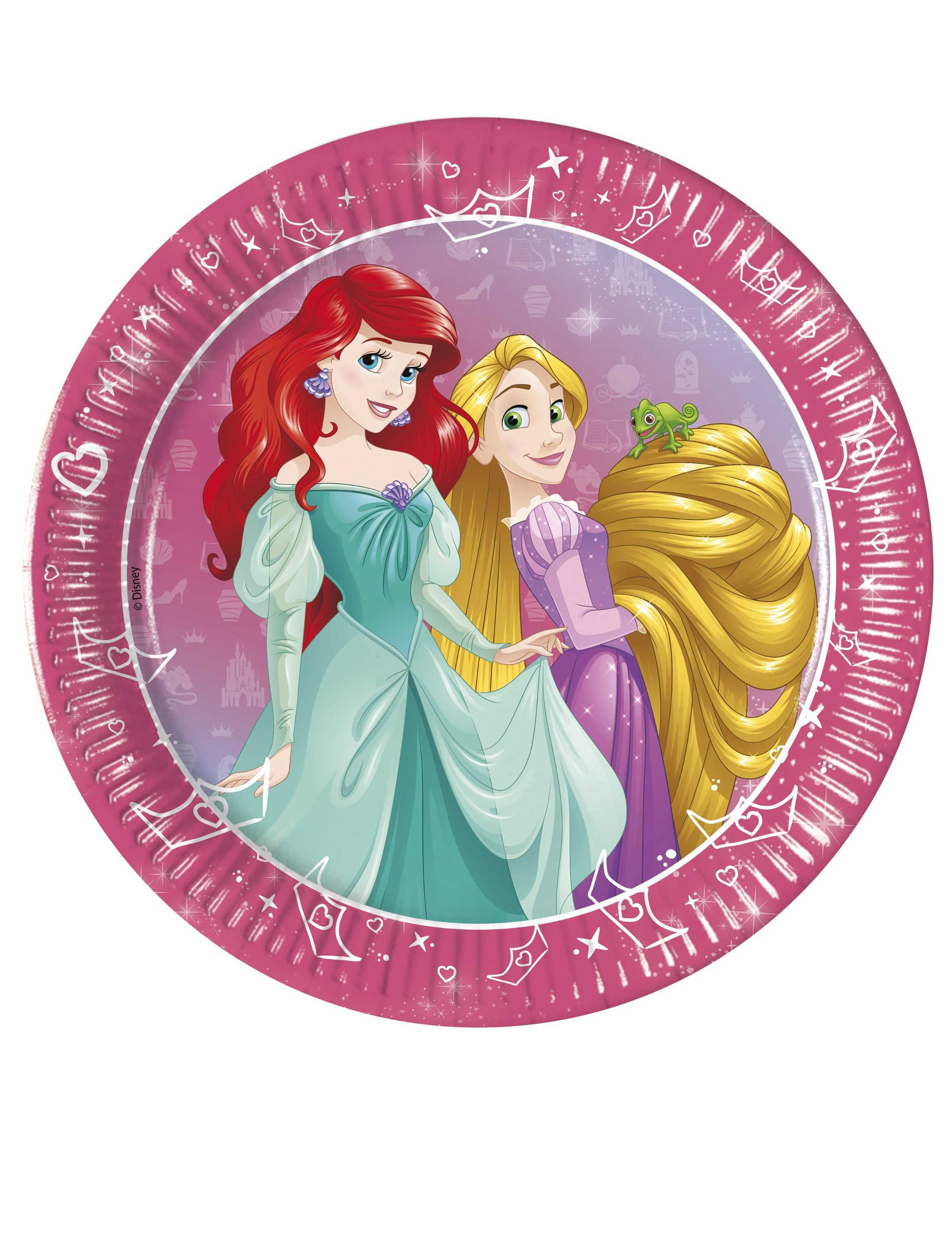 #Disney™-Pappteller Prinzessinnen 8 Stück bunt 20cm#
