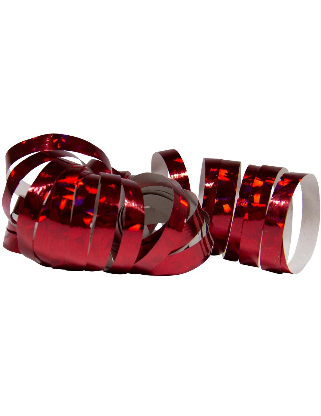 #Holografische Luftschlangen für Festlichkeiten 2 Stück rot 4 m#