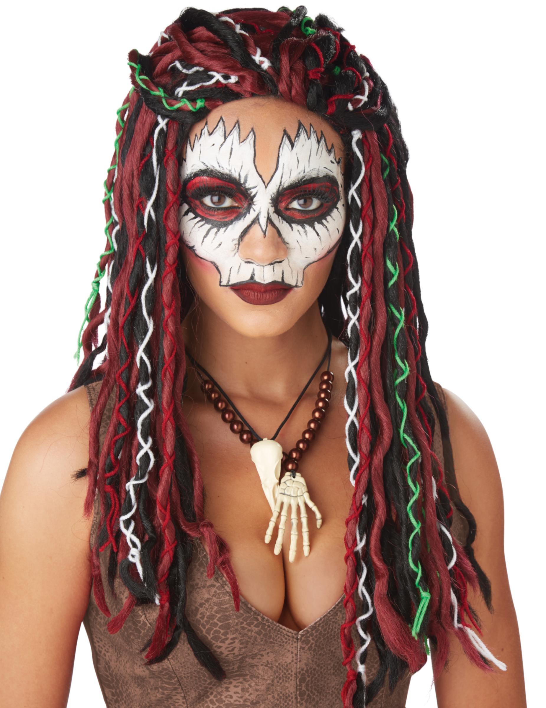 Dreadlocks Voodoo-Perücke Halloween-Accessoire für Damen bunt 292383