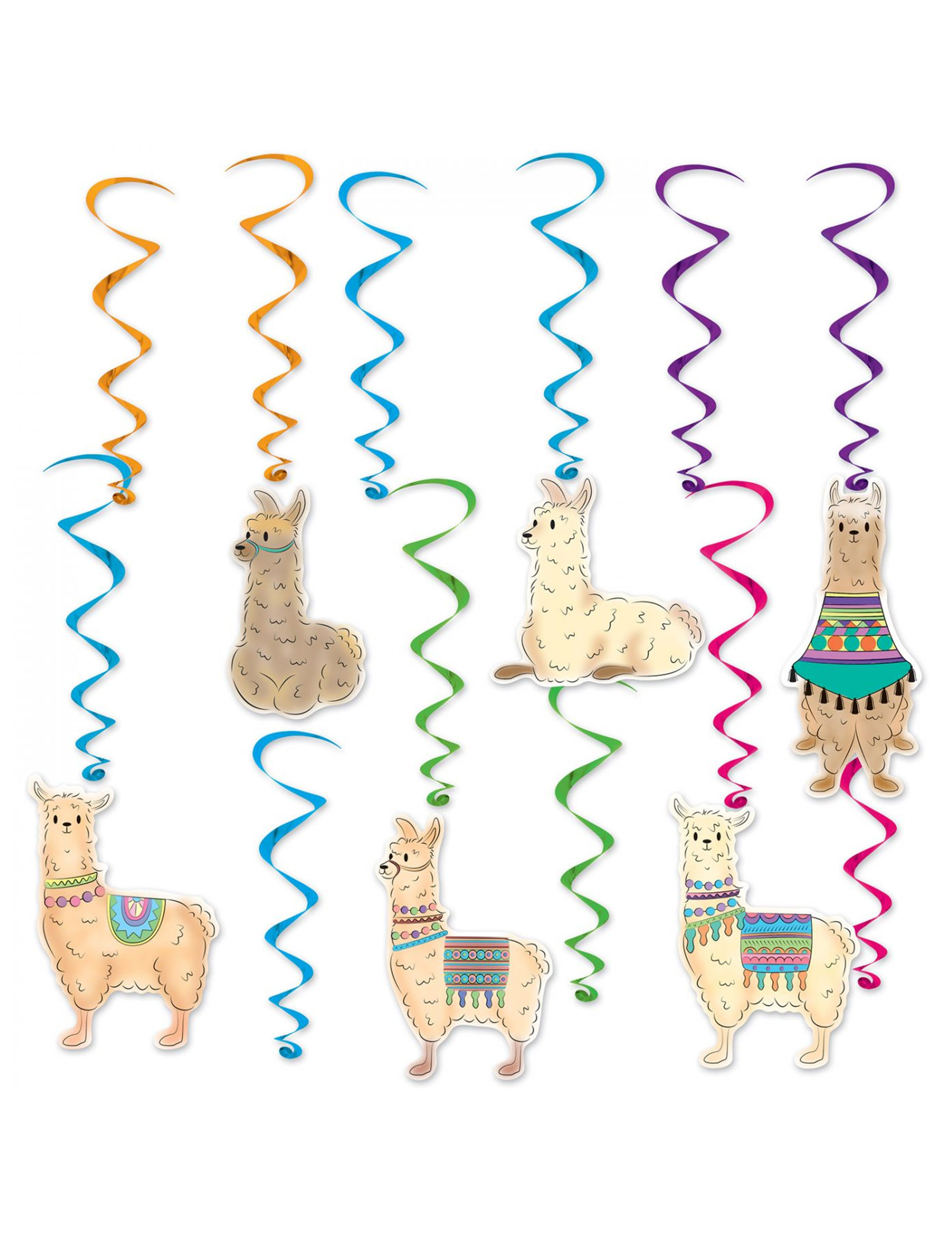 #12 Lama Dekospiralen zum Aufhängen 43-81 cm#
