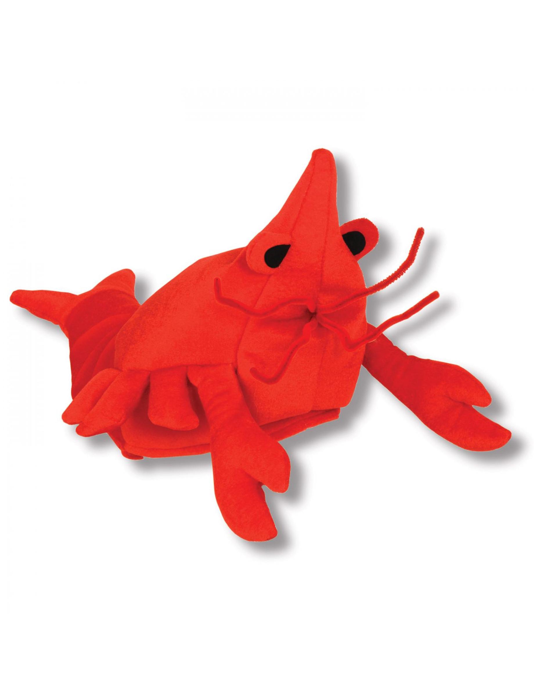 Witziger Hummer-Hut für Erwachsene rot 293012
