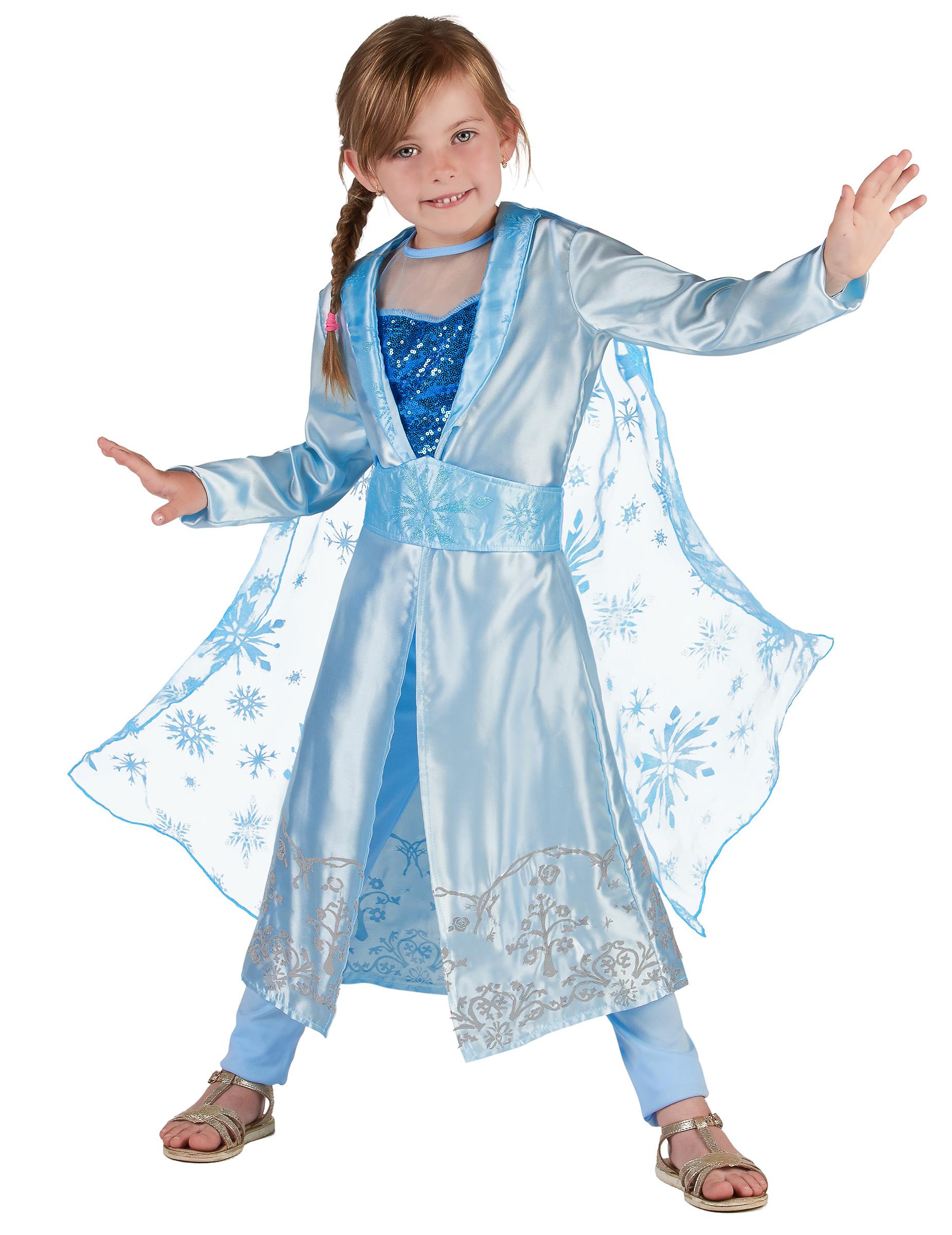 #Eis-Prinzessin Mädchenkostüm für Karneval blau#