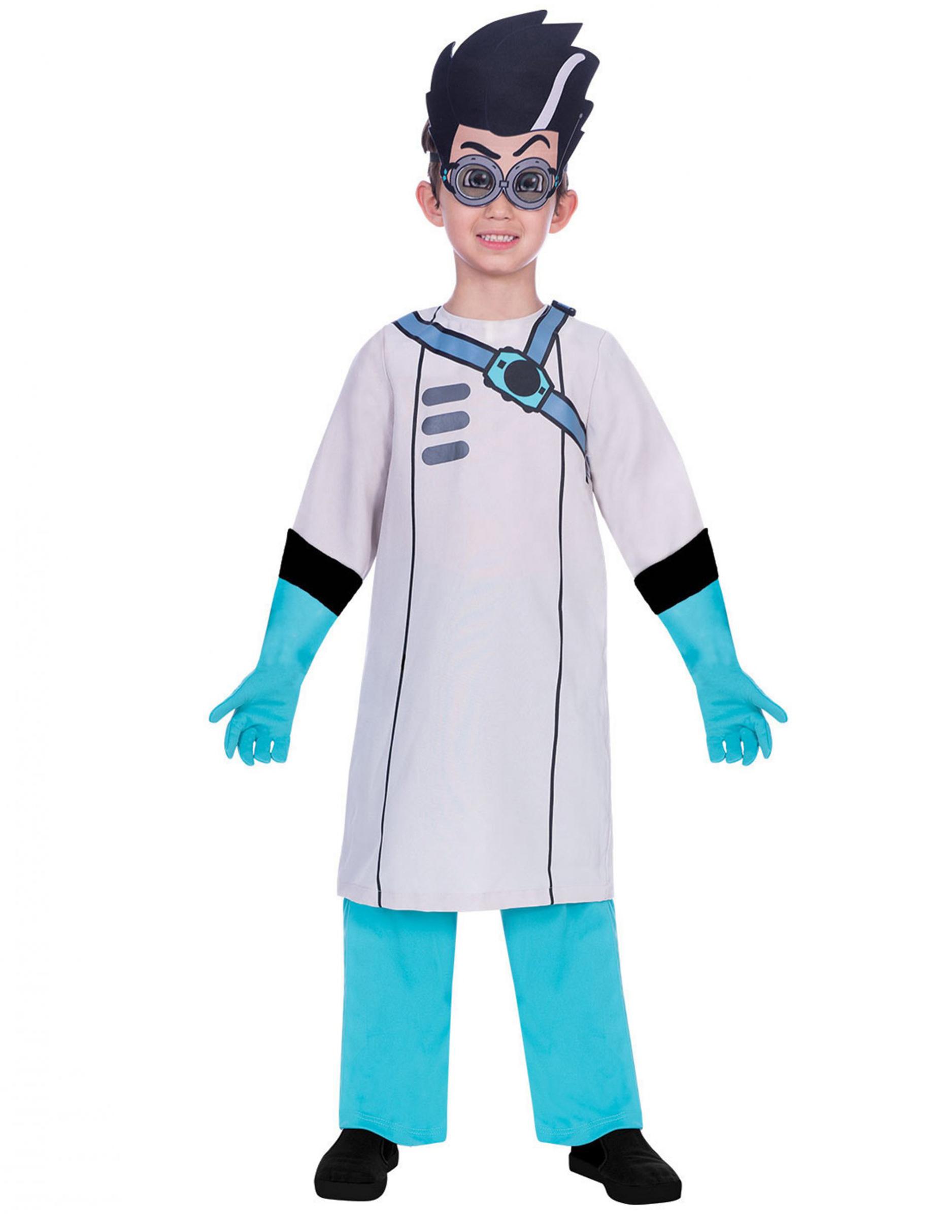 #PJ Masks™-Romeo-Kinderkostüm Lizenz-Verkleidung weiss-blau#