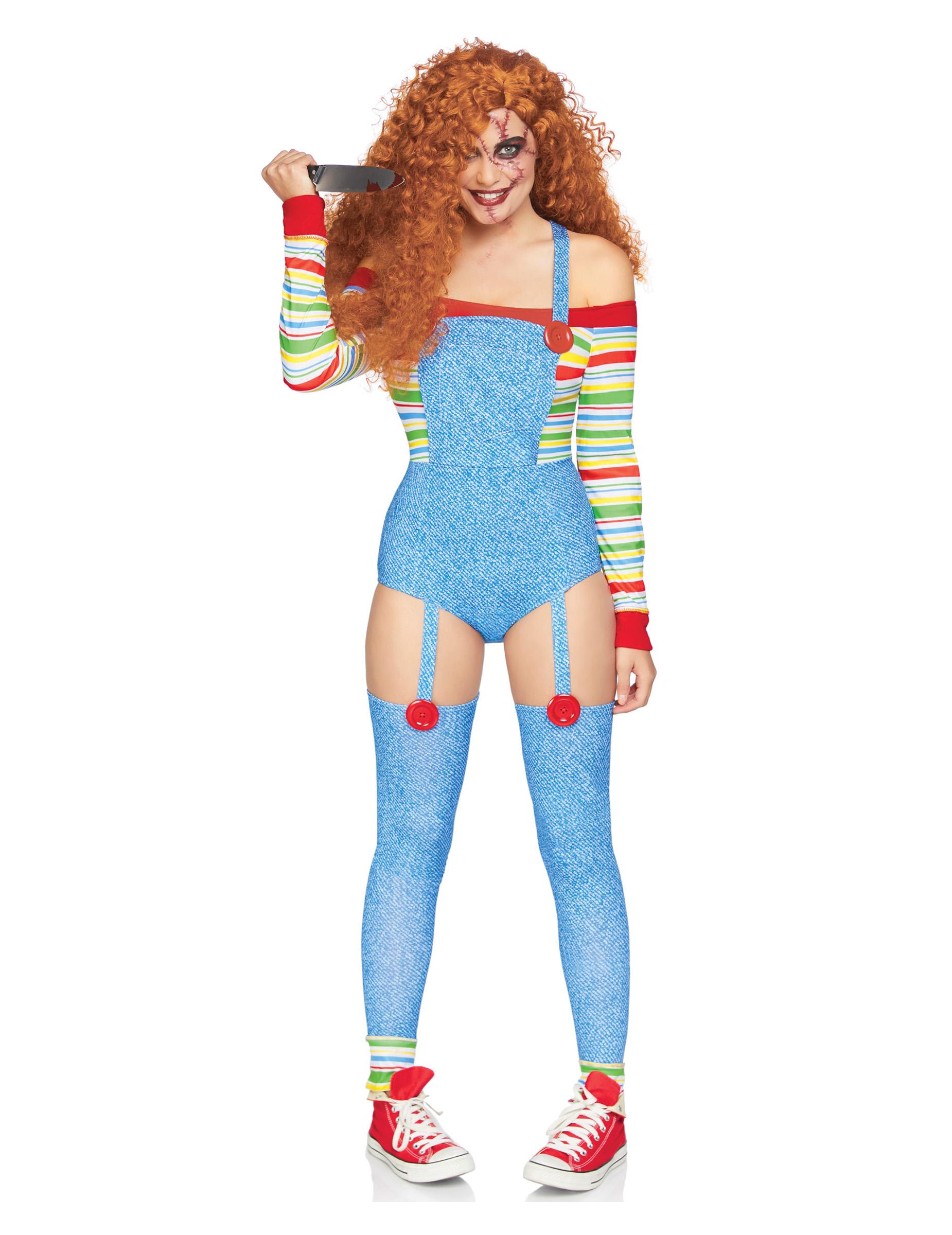 Hochwertiges Mörderpuppen Kostüm für Damen - M / L 293507