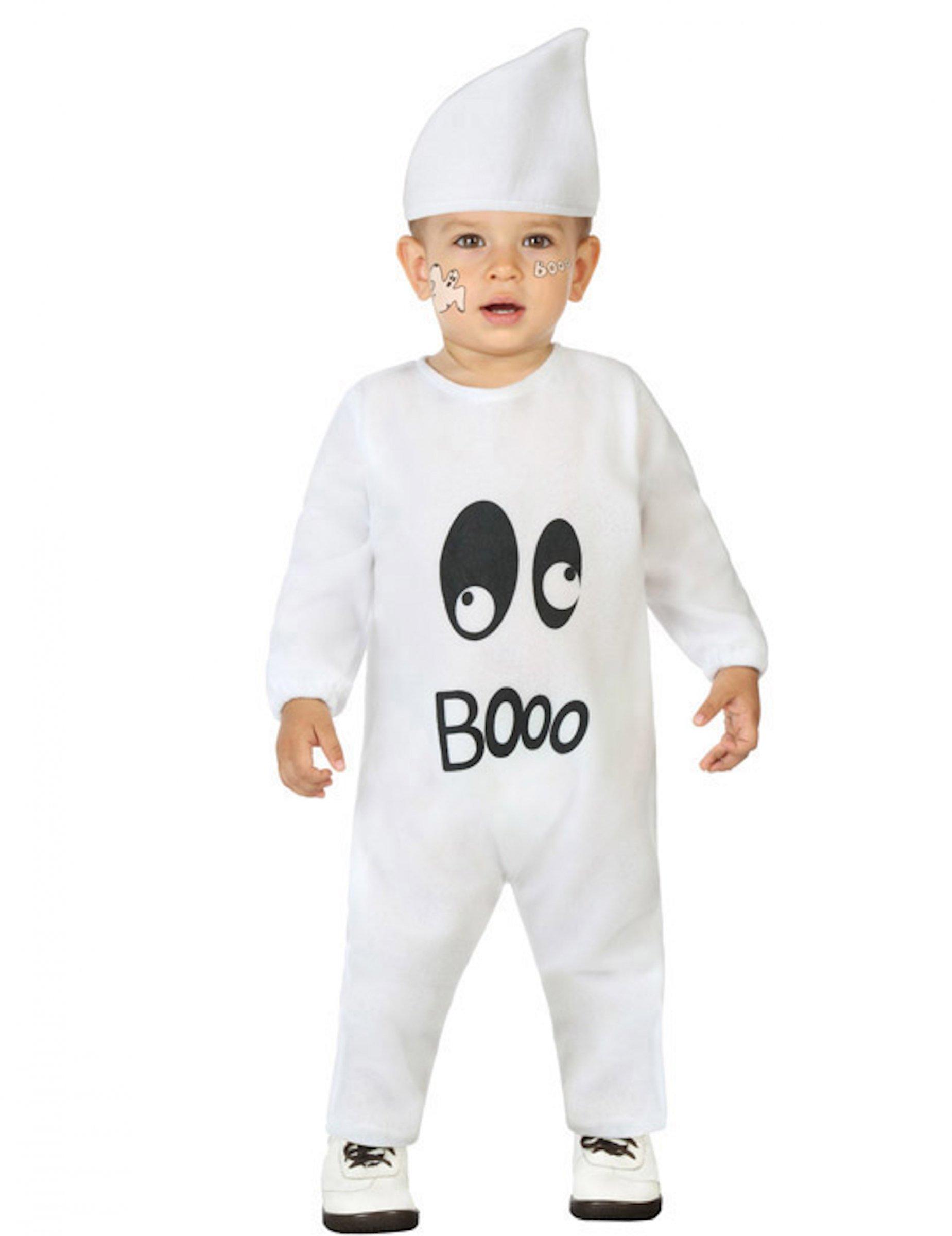 #Niedliches Geist-Kostüm für Babys weiß#