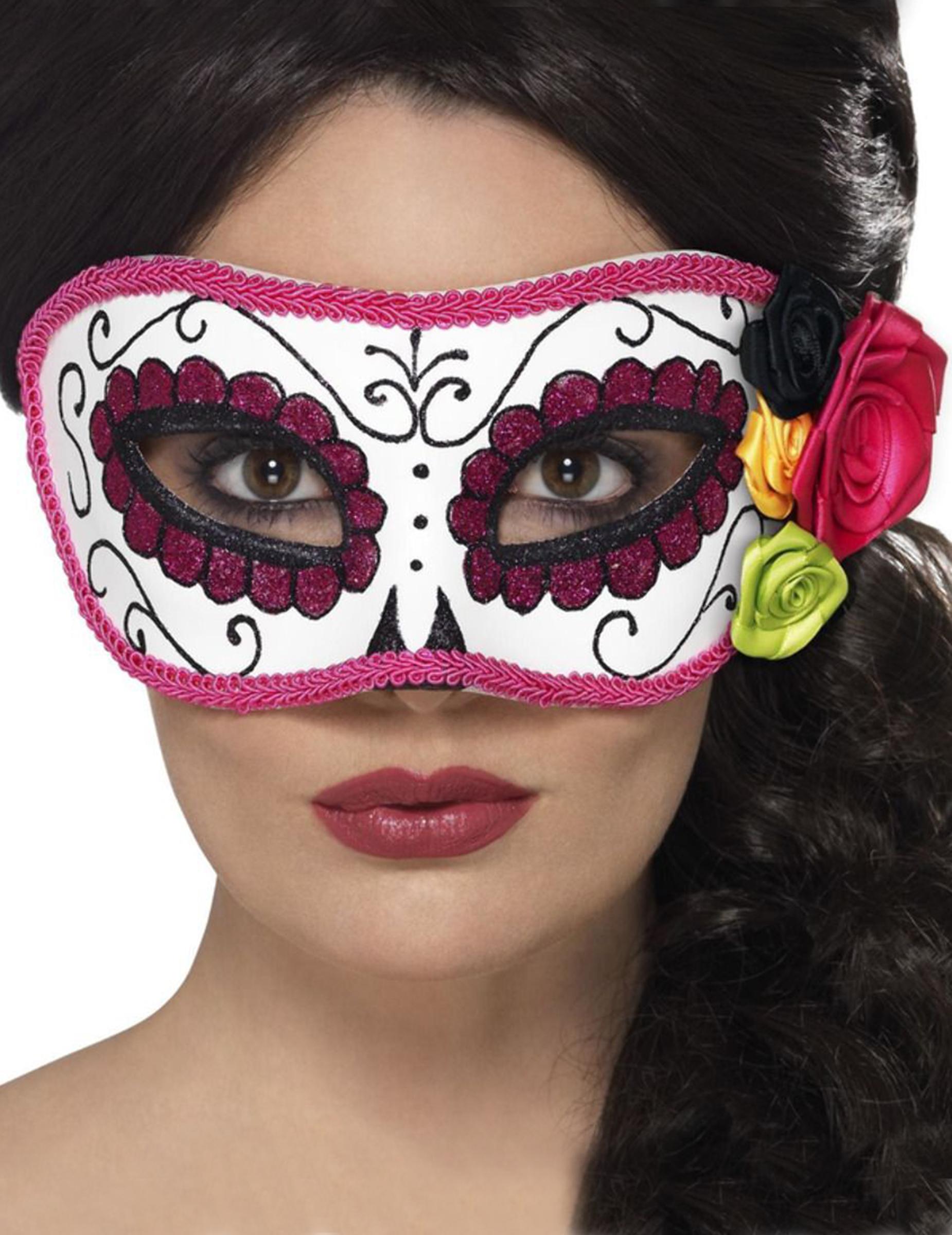 Tag der Toten-venezianische-Augenmaske für Halloween bunt 294763