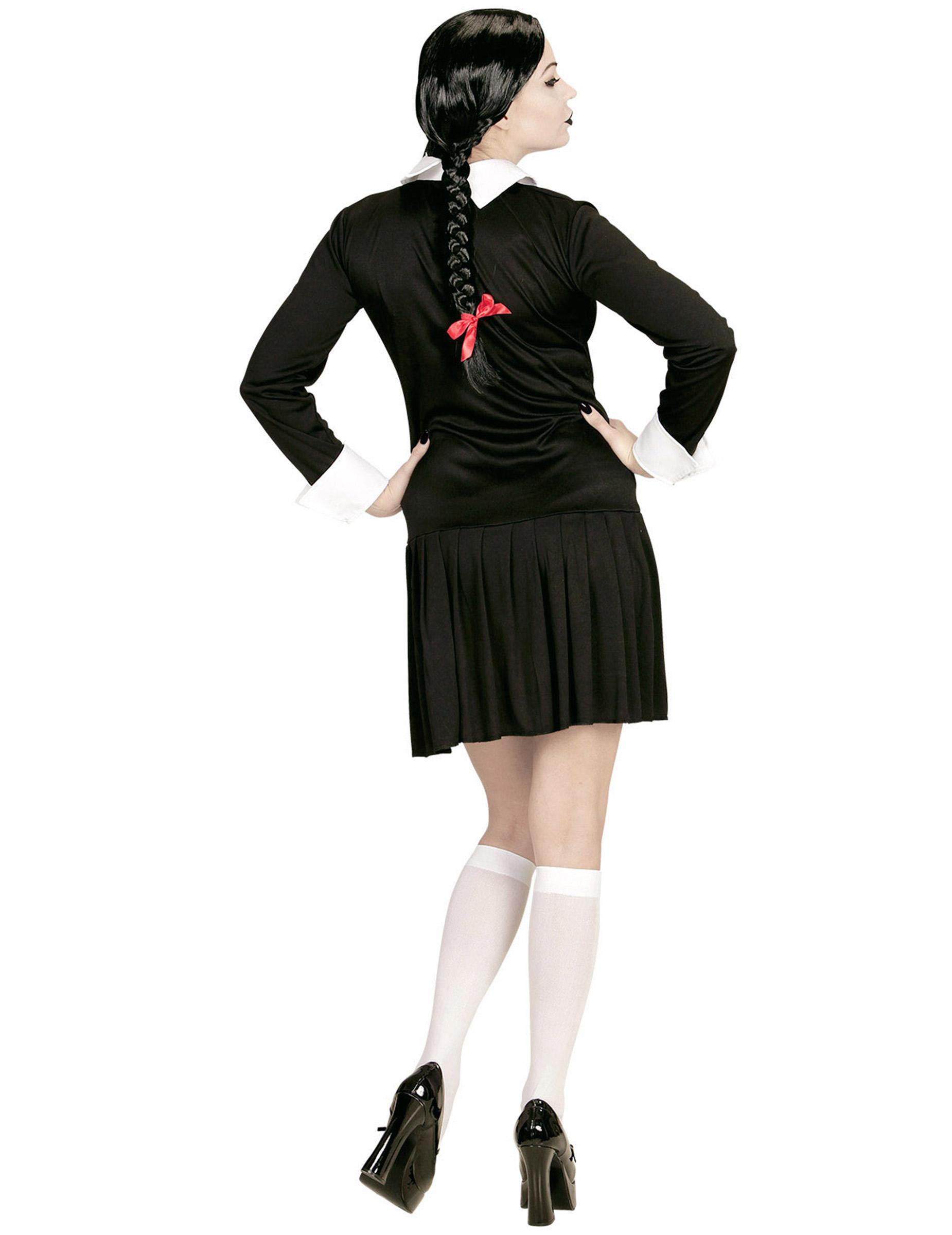 Gothic Schulmädchen Kostüm für Damen Halloween: Kostüme