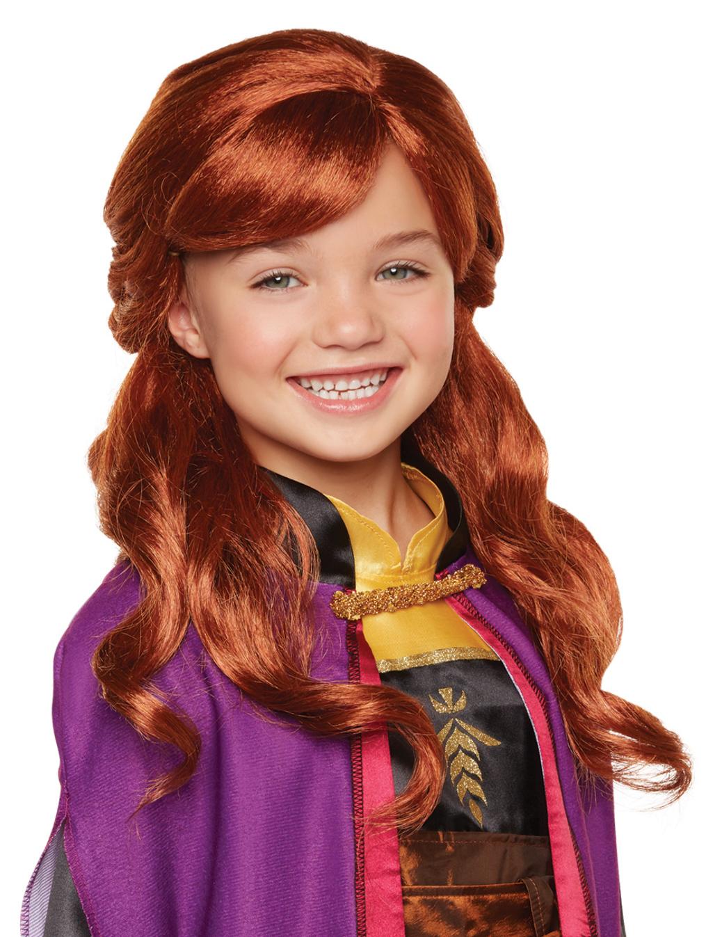 Frozen Anna-Perücke für Kinder Disney-Zubehör orange 296472