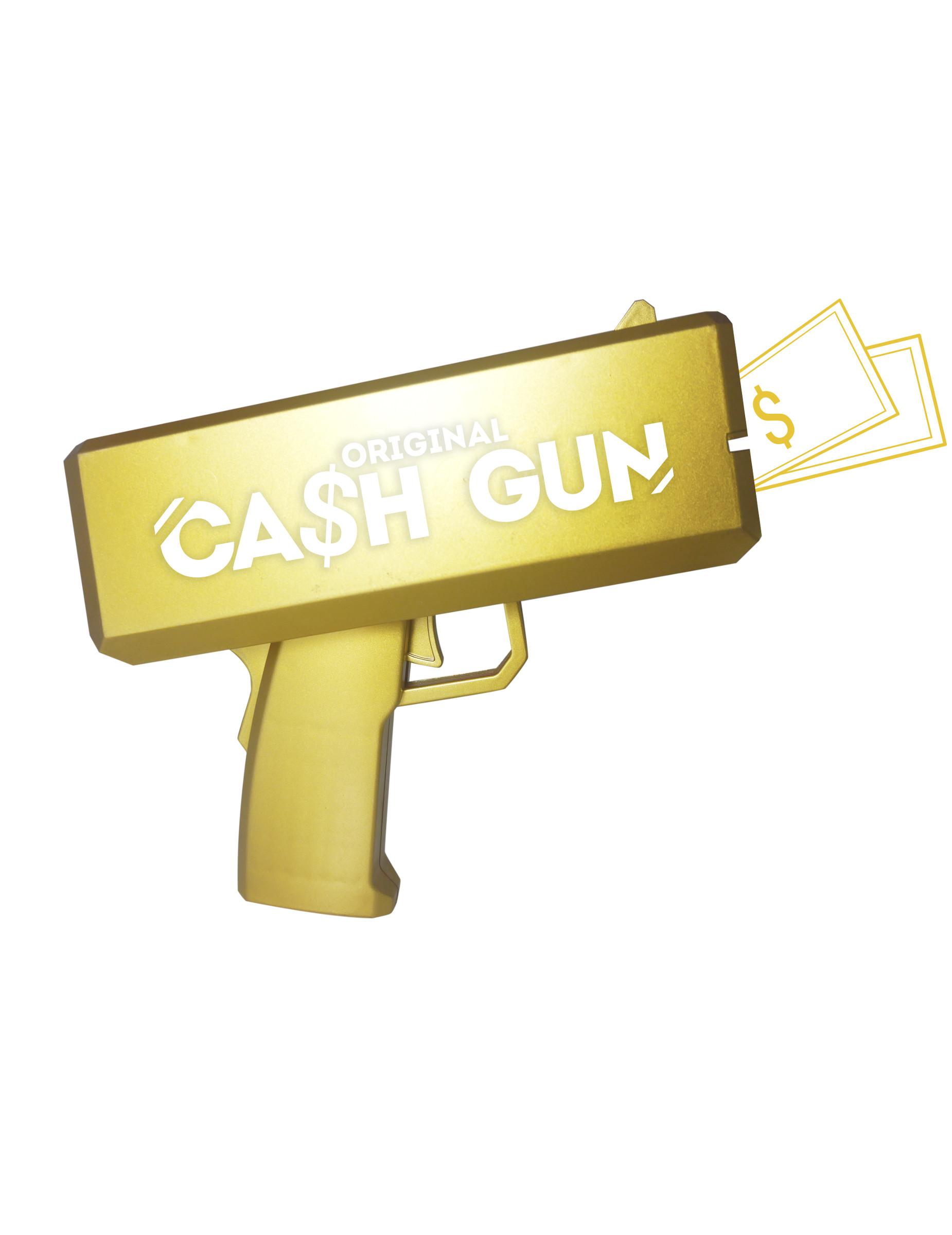 Geldschein Pistole mit 100 Scheinen gold 296839