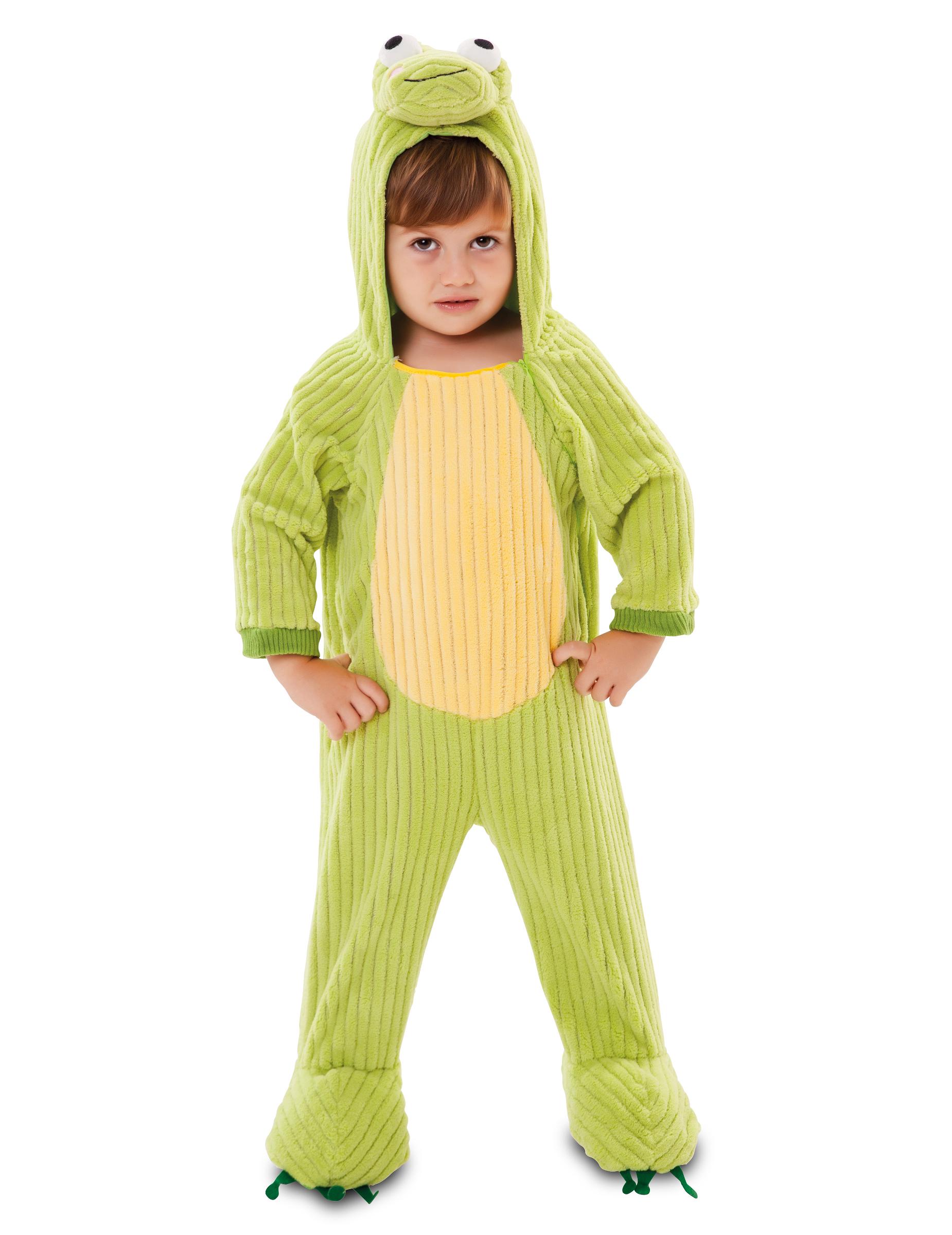 *Frosch-Kostüm für Kinder Tier-Overall für Karneval-Kostüme grün*