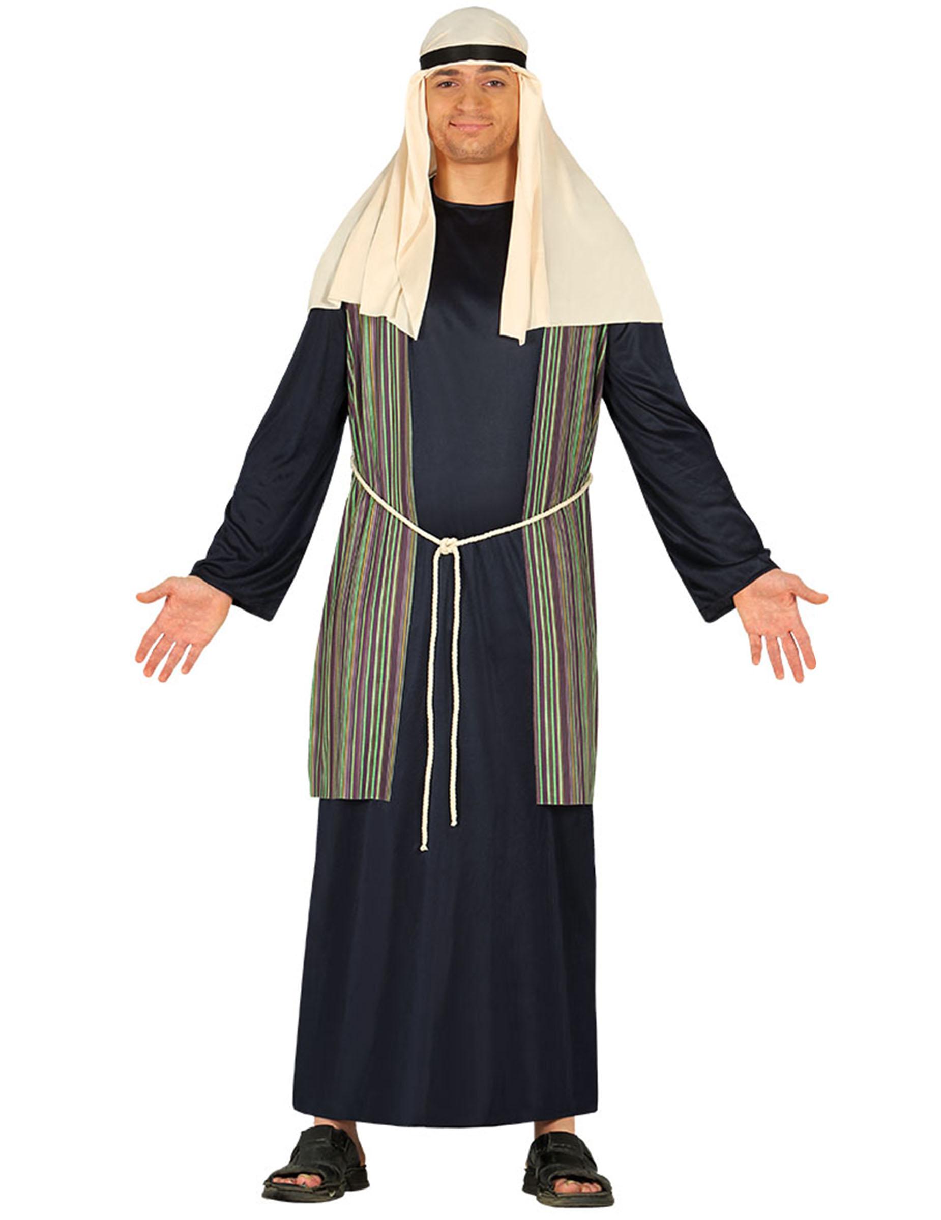 Hirten-Kostüm für Herren Weihnachtskrippe blau - L (52-54) 297261