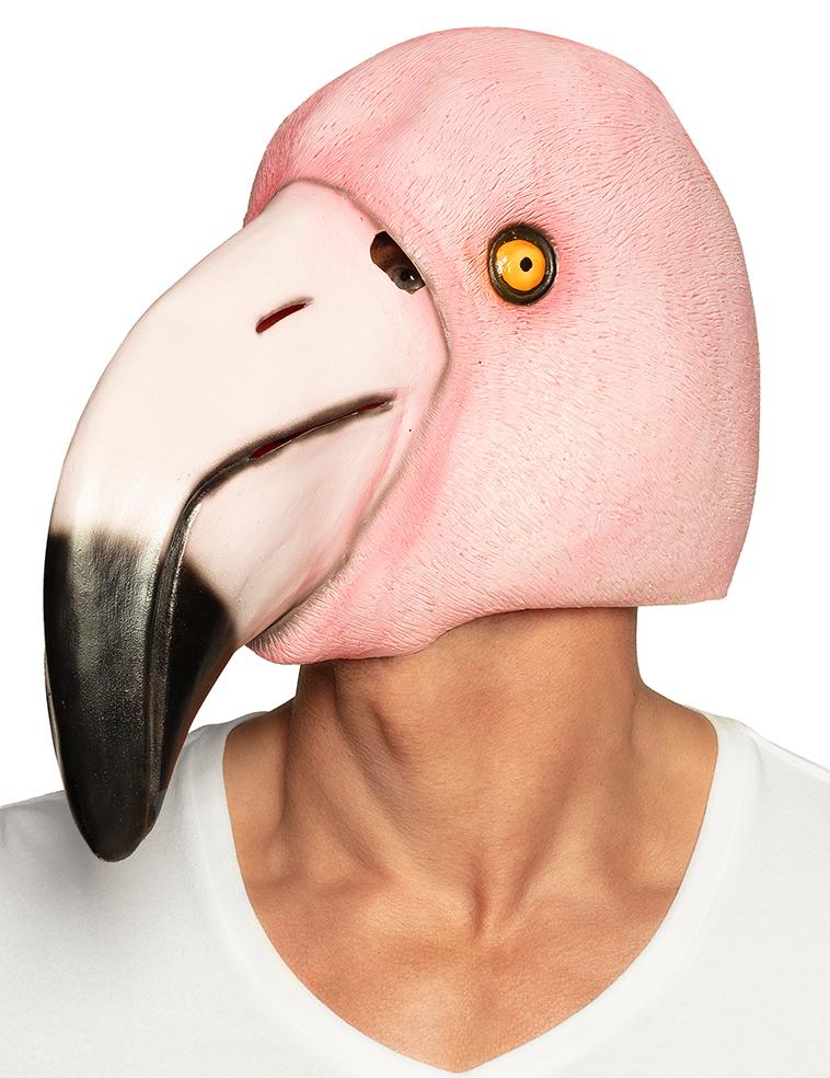 #Flamingo-Vollgesichtsmaske für Damen und Herren Fasching bunt#
