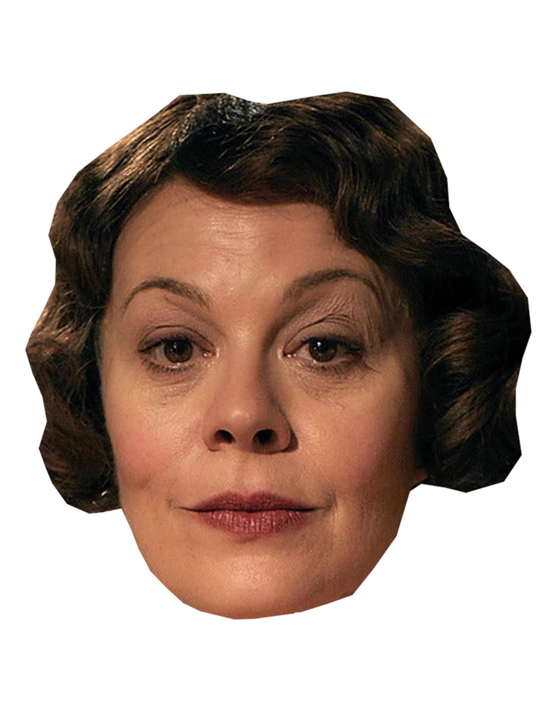 #Britische Schauspielerin-Pappmaske für Karneval hautfarben-braun#