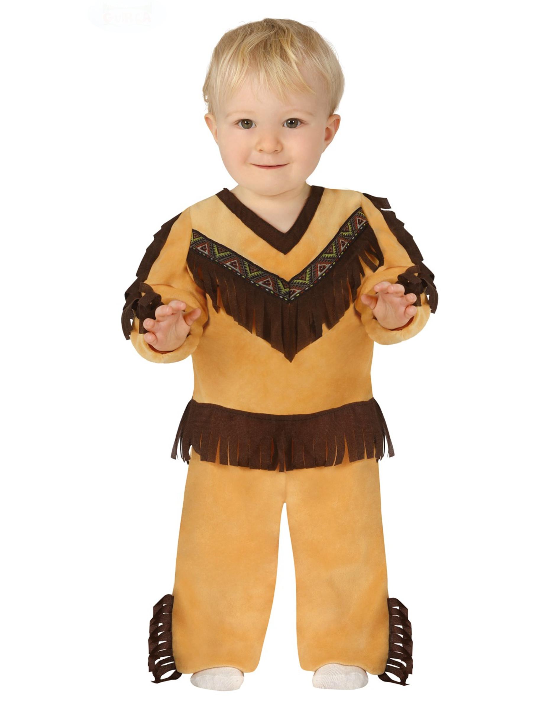 #Süßes Indianer-Babykostüm Karnevals-Verkleidung braun-beige#