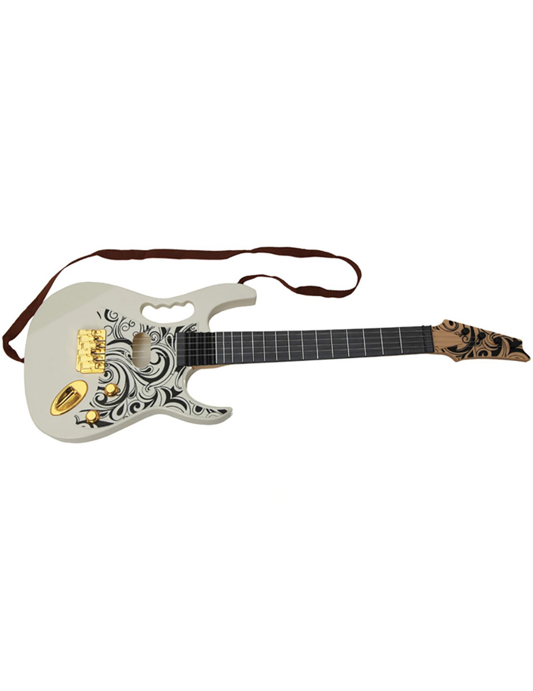 Elektrische-Gitarre musikalisches-Zubehör weiss 67cm 299275