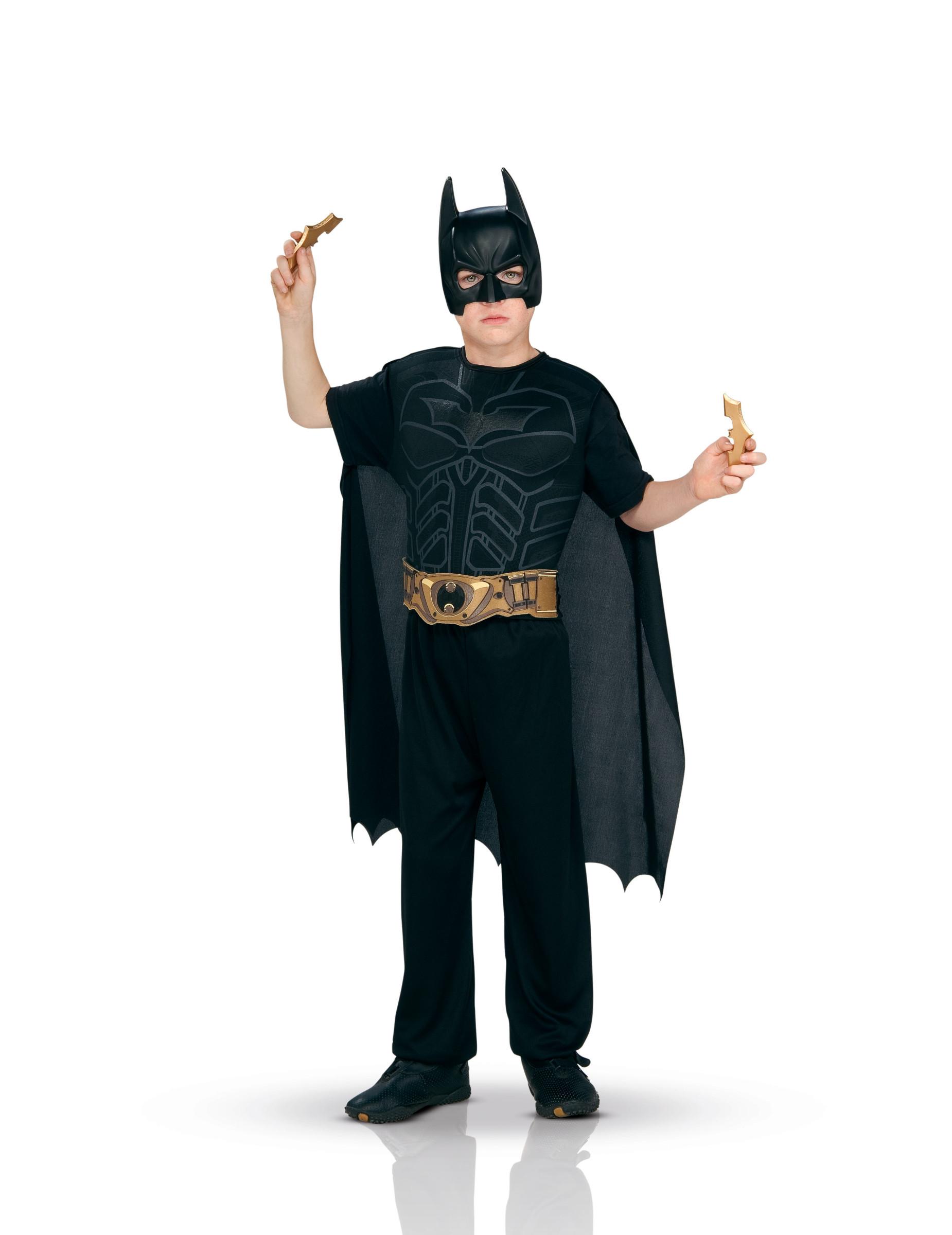 #Batman™-Kostüm für Jungen mit Accessoires Faschings-Set schwarz-gold#