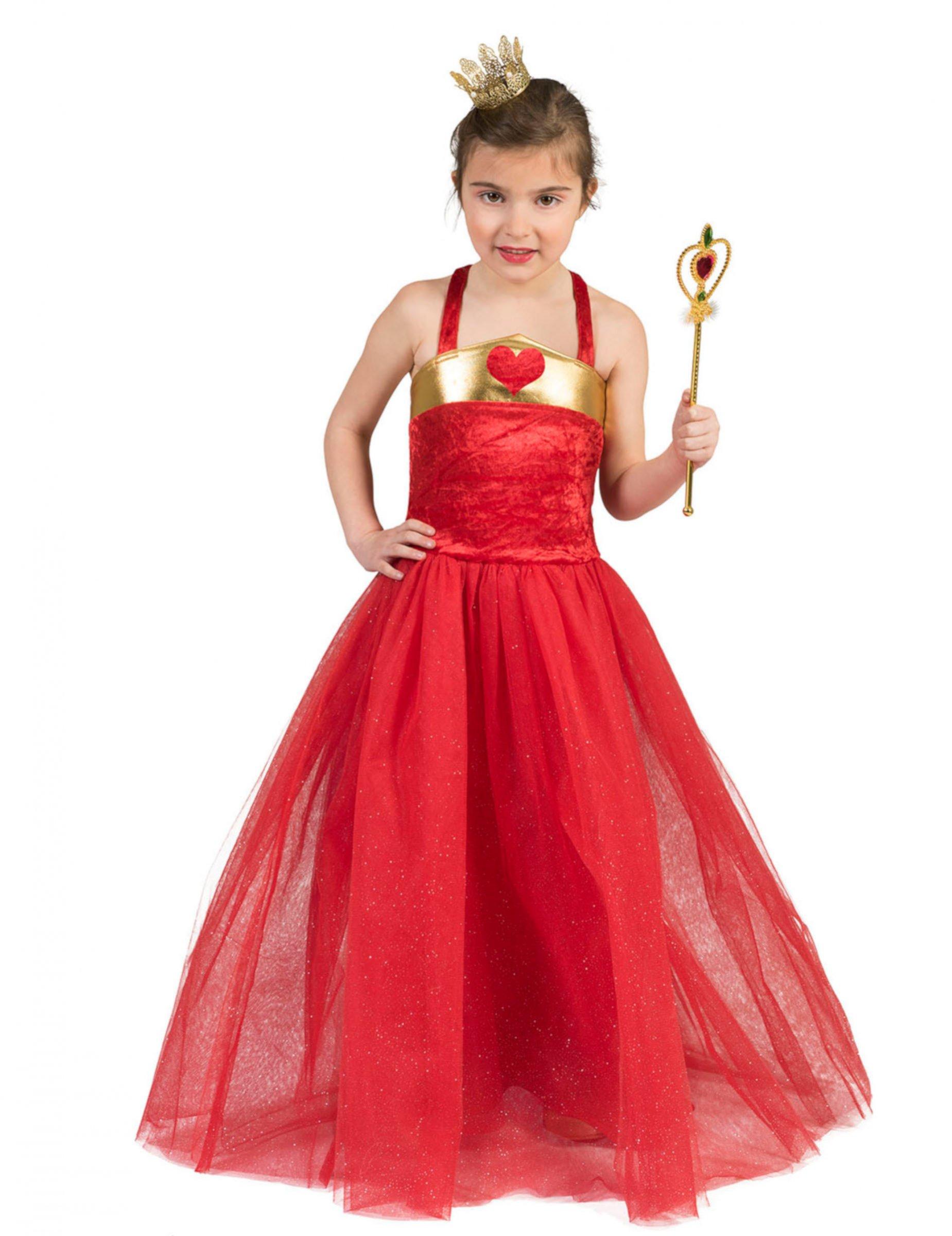 #Herzliches Prinzessin-Kostüm für Kinder Ballkleid rot#