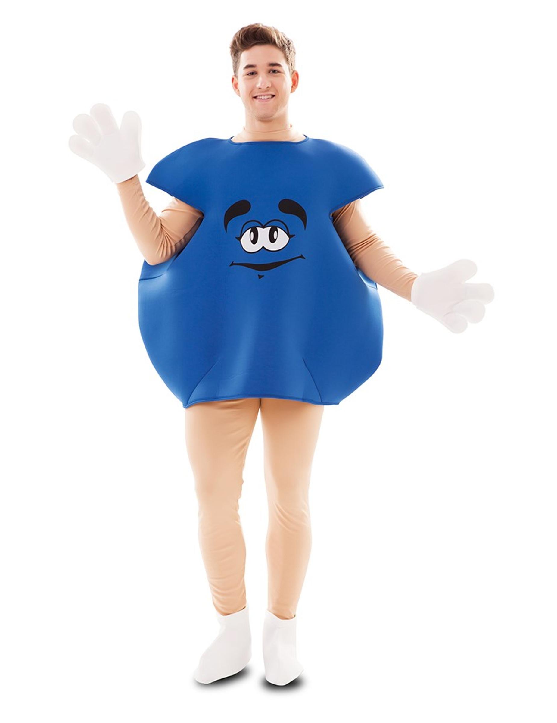 Bonbon-Kostüm Süßigkeiten-Verkleidung für Fasching blau 301493