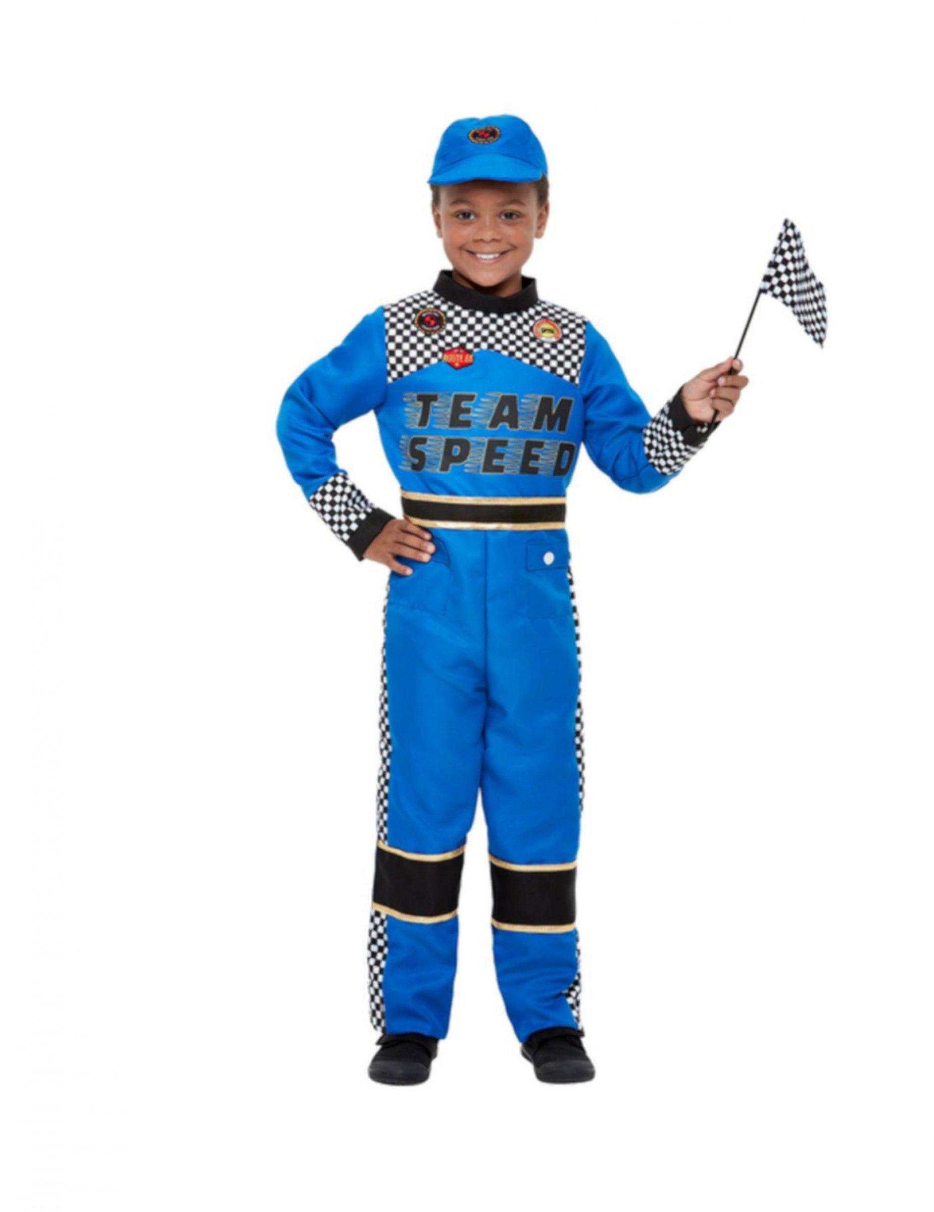 #Rennfahrer-Kostüm für Kinder blau#