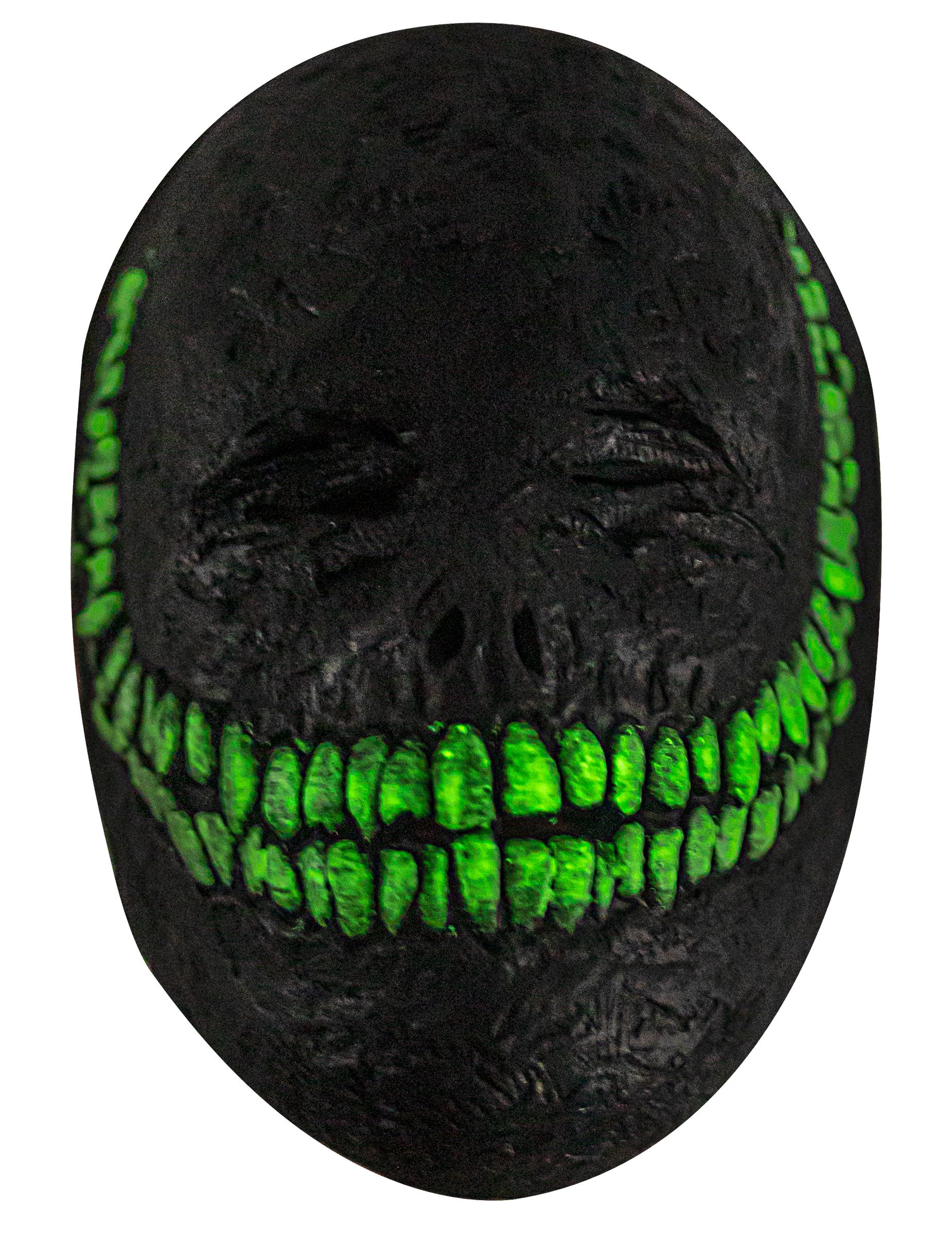 Lächelnde Dämonenmaske für Erwachsene schwarz-grün 304283