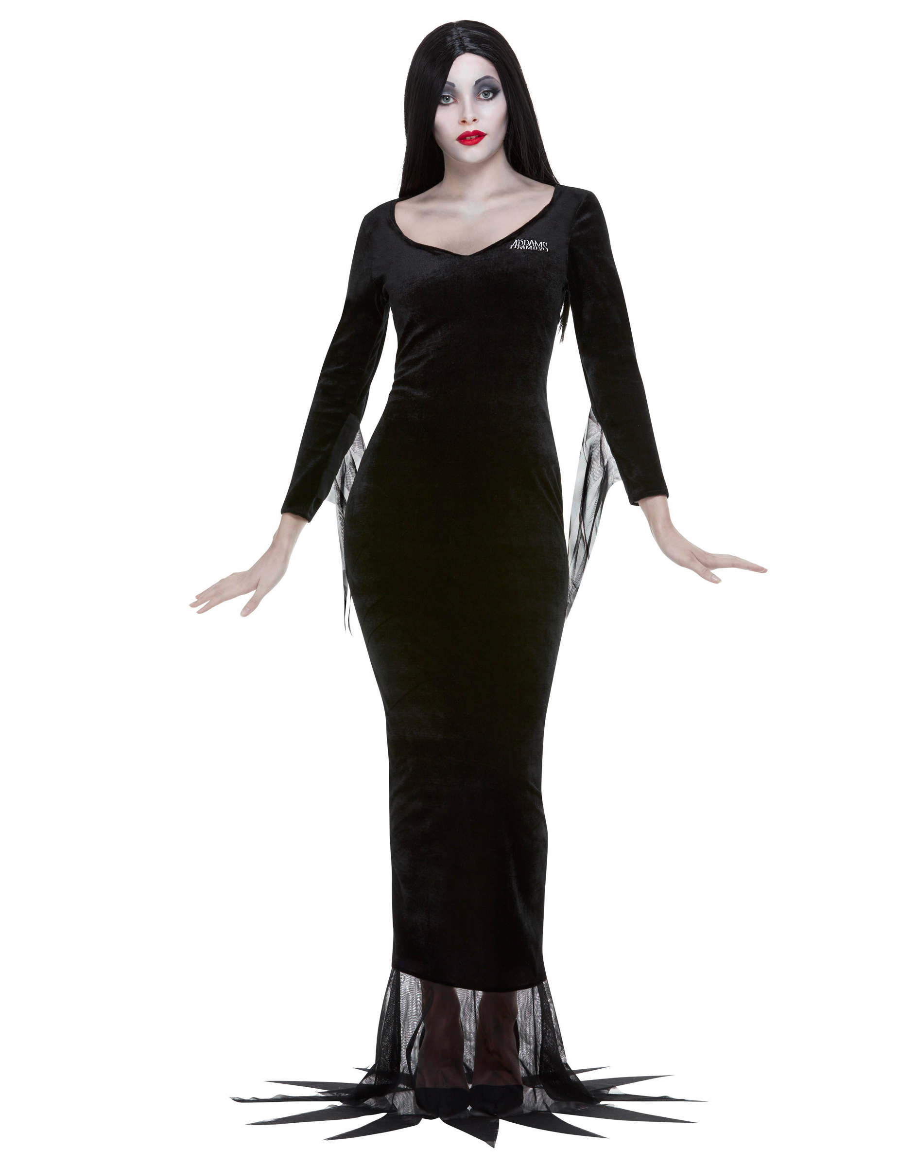Morticia Lizenzkostüm für Damen Addams Family schwarz - XL 306719