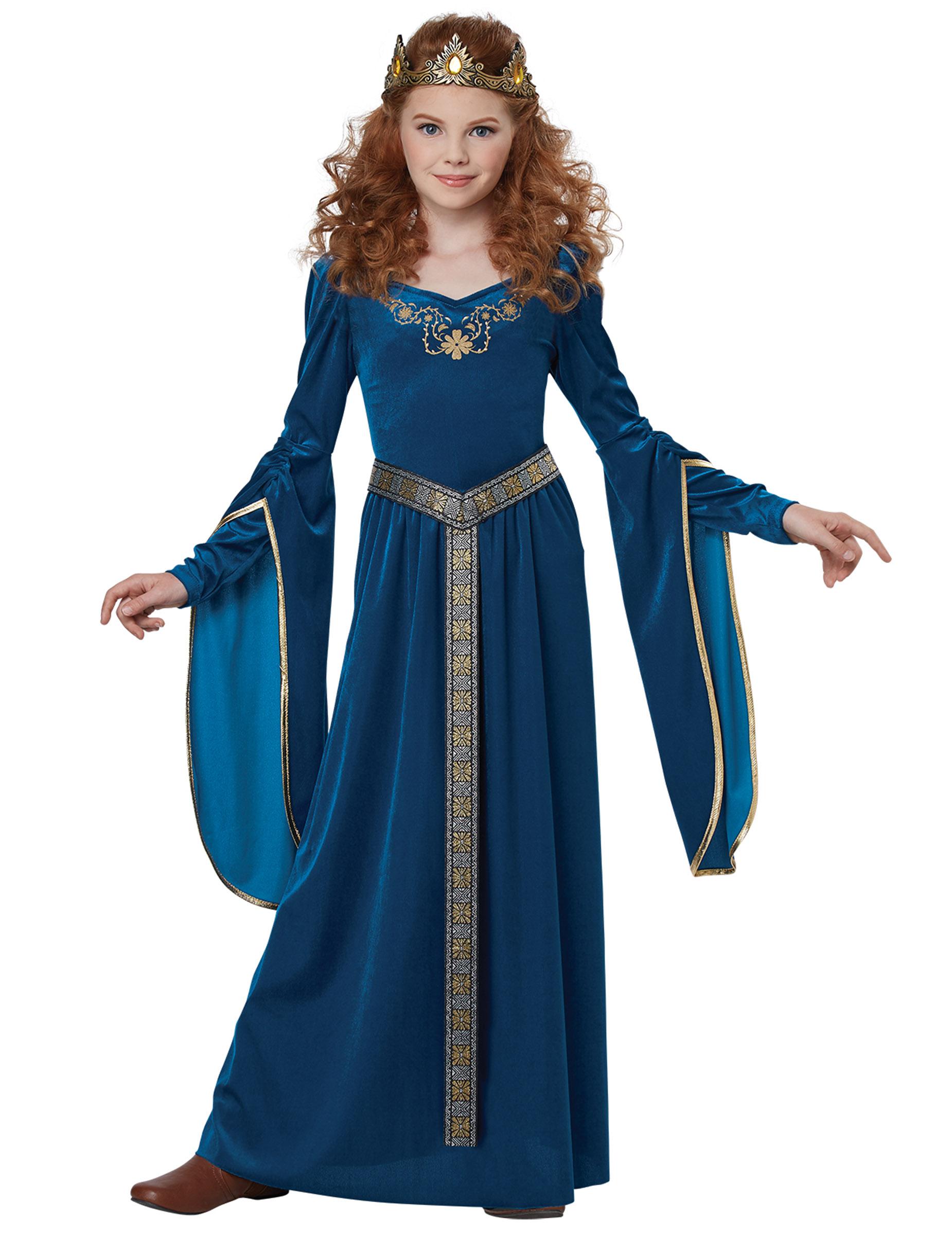 Edles Mittelalter-Prinzessin Karnevalskostüm für Mädchen ...