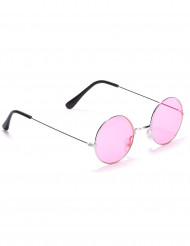 Hippiebrille rund für Erwachsene