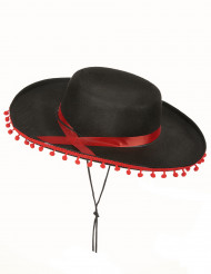 Spanierhut schwarz-rot