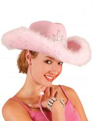 Cowgirlhut rosa für Damen