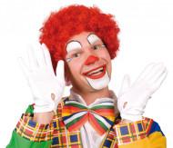Afro-Perücke Clown rot für Erwachsene