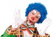 Afro-Perücke Clown blau für Erwachsene