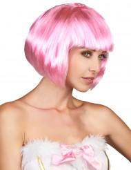 Damenkurzhaarperücke rosa
