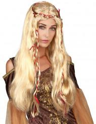 Damenperücke Mittelalter blond